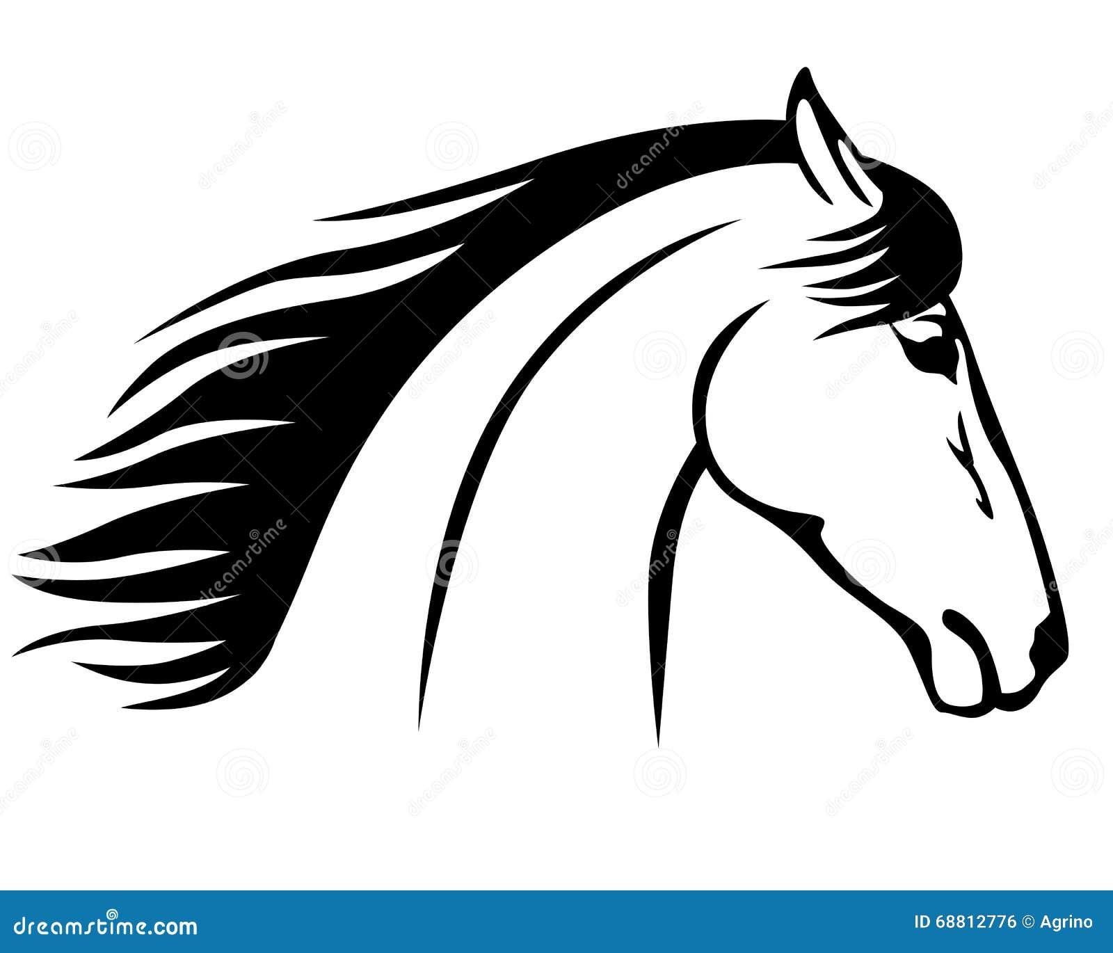 Ic ne de profil de t te de cheval illustration de vecteur - Dessin tete de profil ...