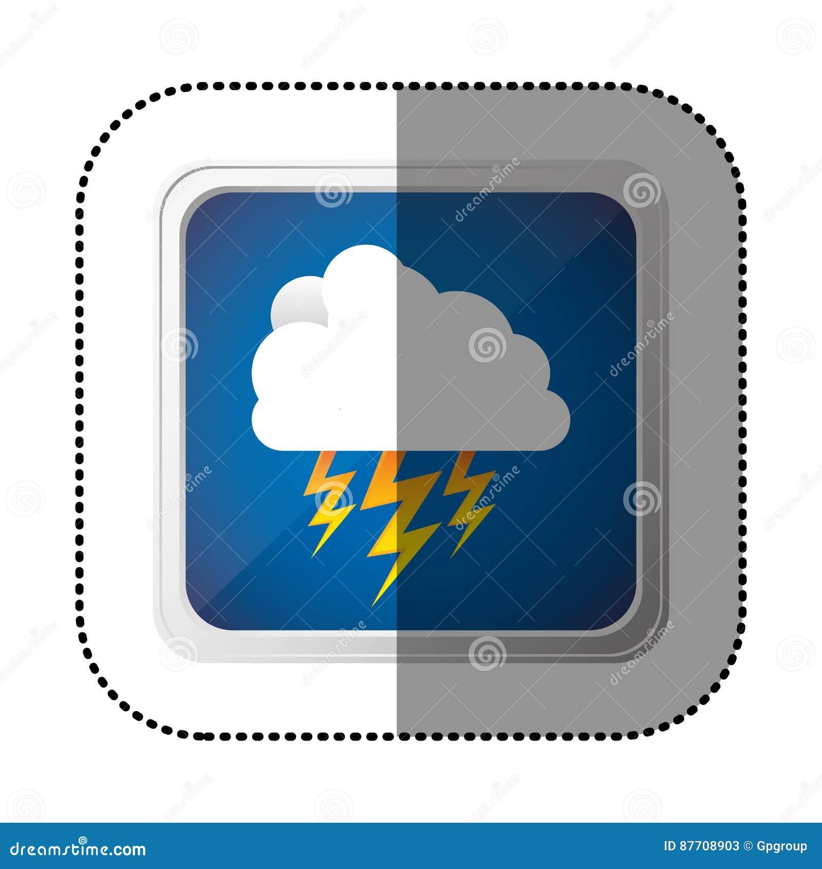 Icône de rayon de nuage de symbole