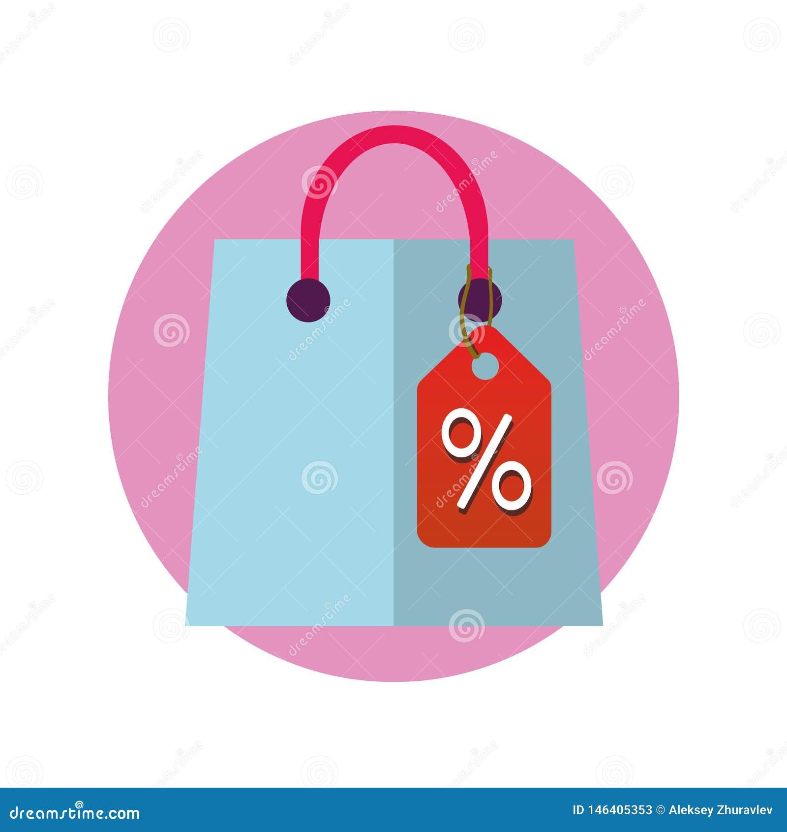 Ic?ne de sac de boutique Pictogramme de achat de paquet Symbole de vente Signe de paquet de cadeau Autocollant de magasin d achat