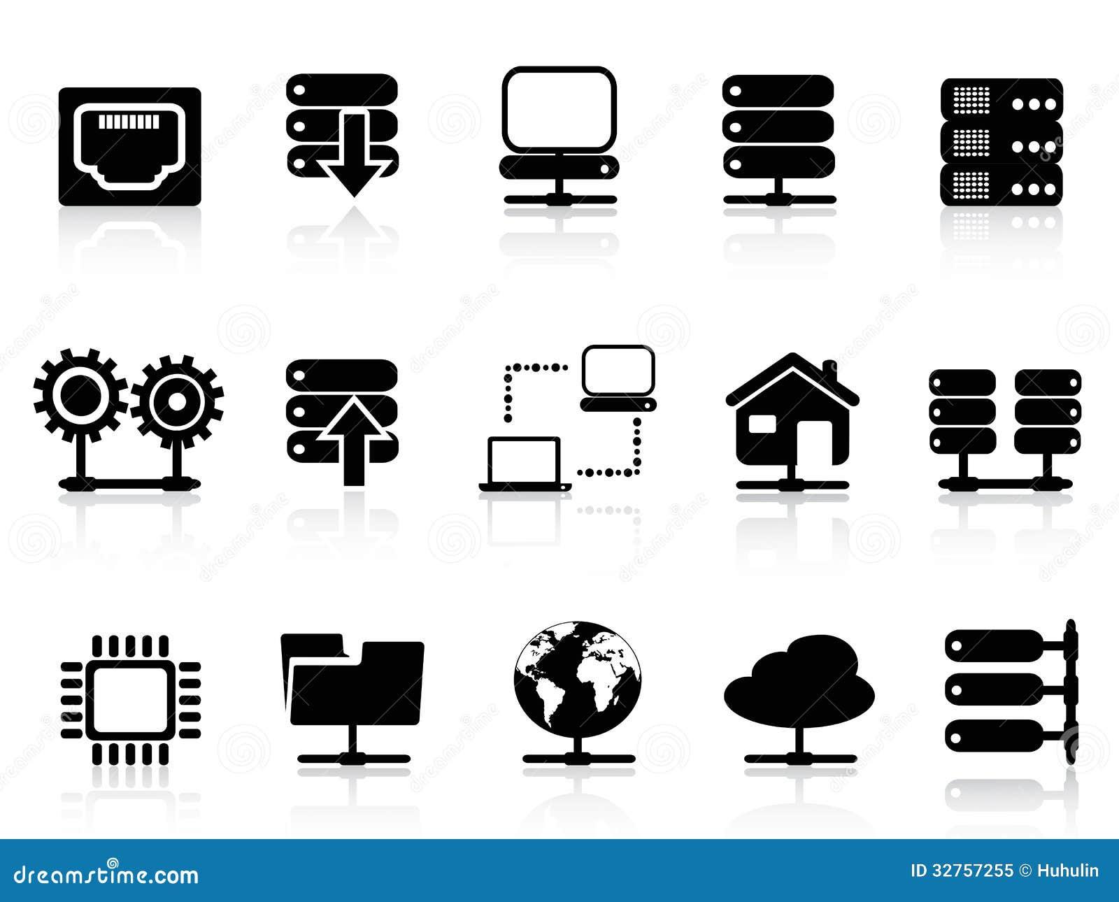 Icône de serveur et de base de données