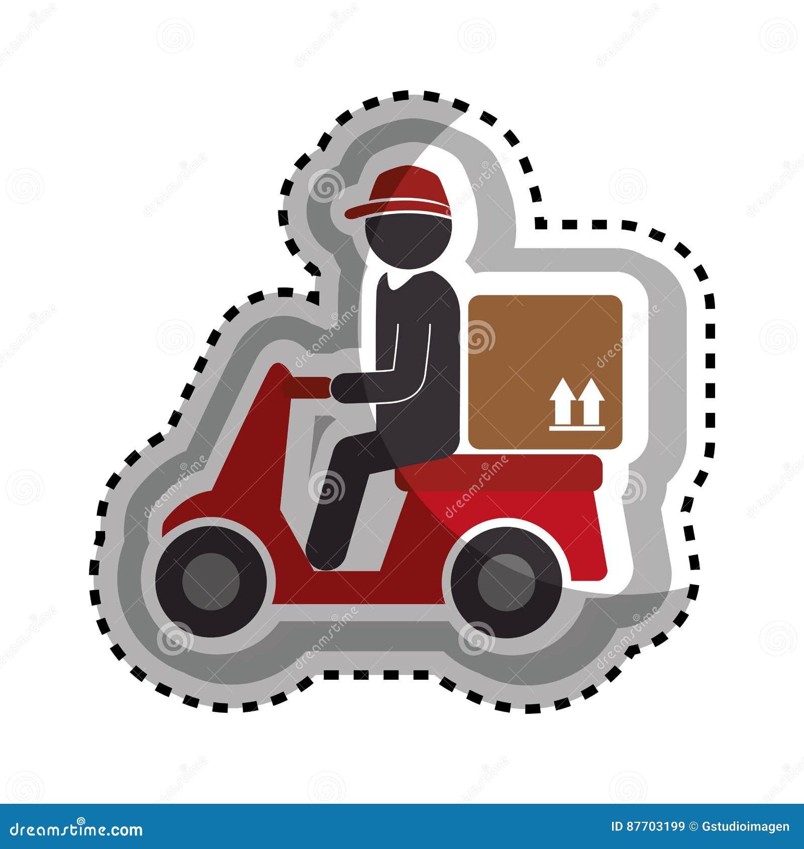 Icône de service de moto de la livraison