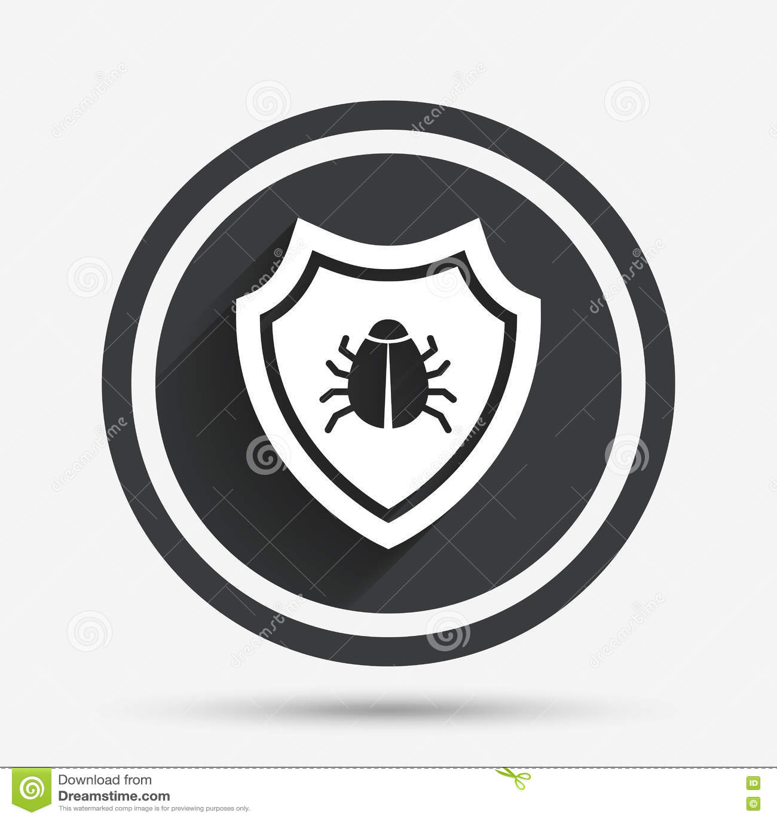 Ic ne de signe de bouclier symbole de protection de virus - Symbole de protection ...