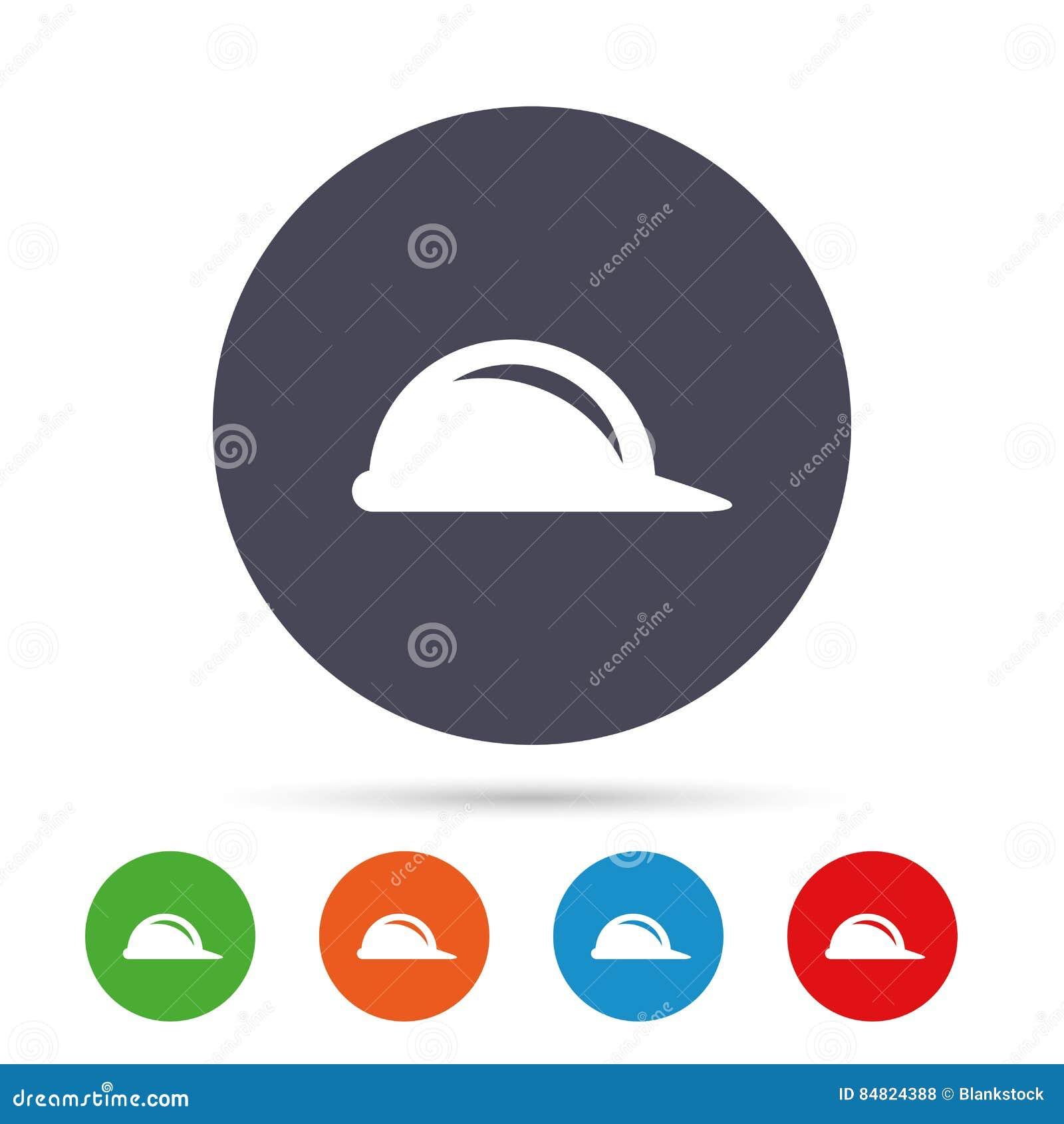 Icône de signe de casque antichoc Symbole de casque de construction
