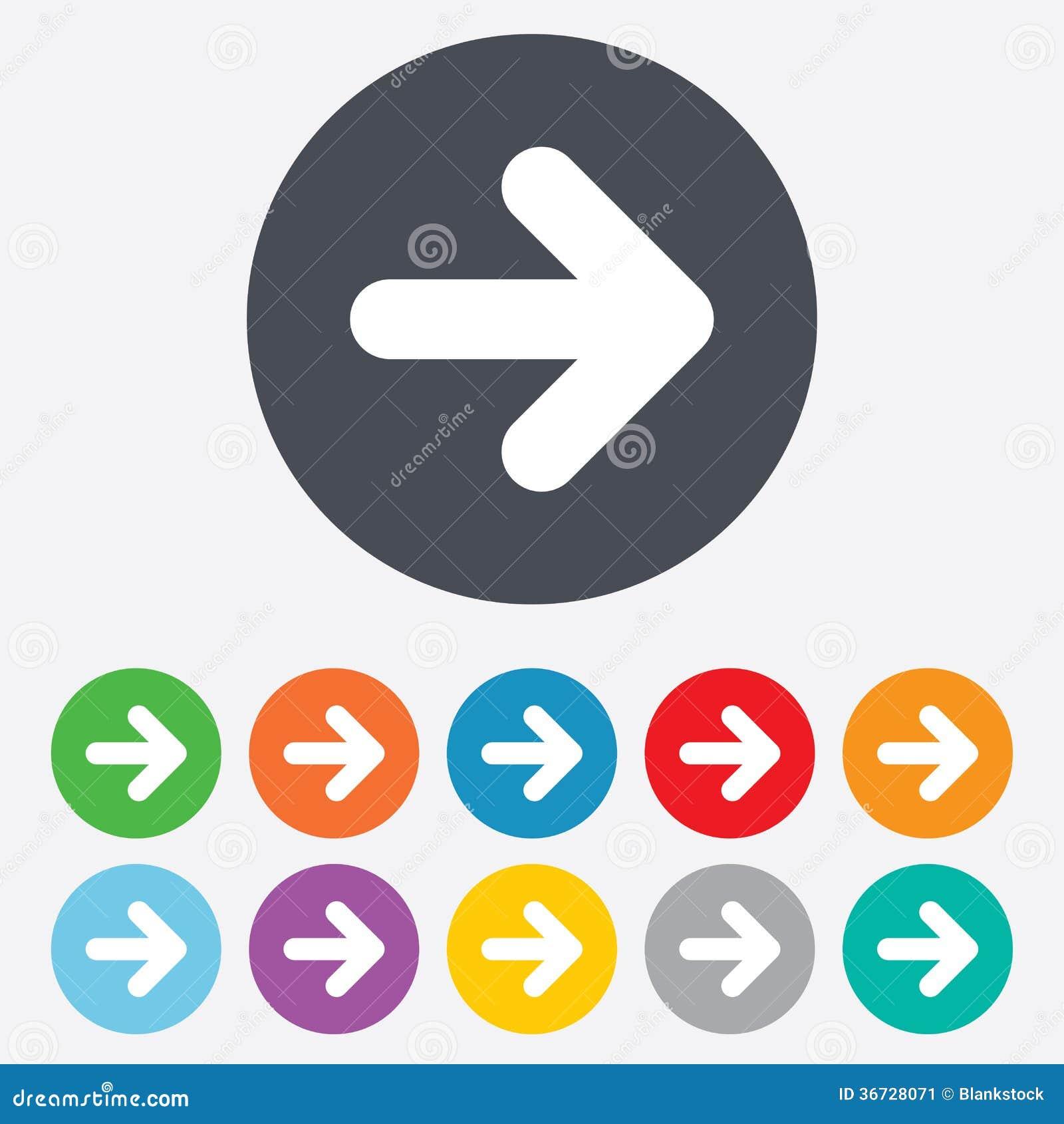 Icône de signe de flèche. Prochain bouton. Symbole de navigation