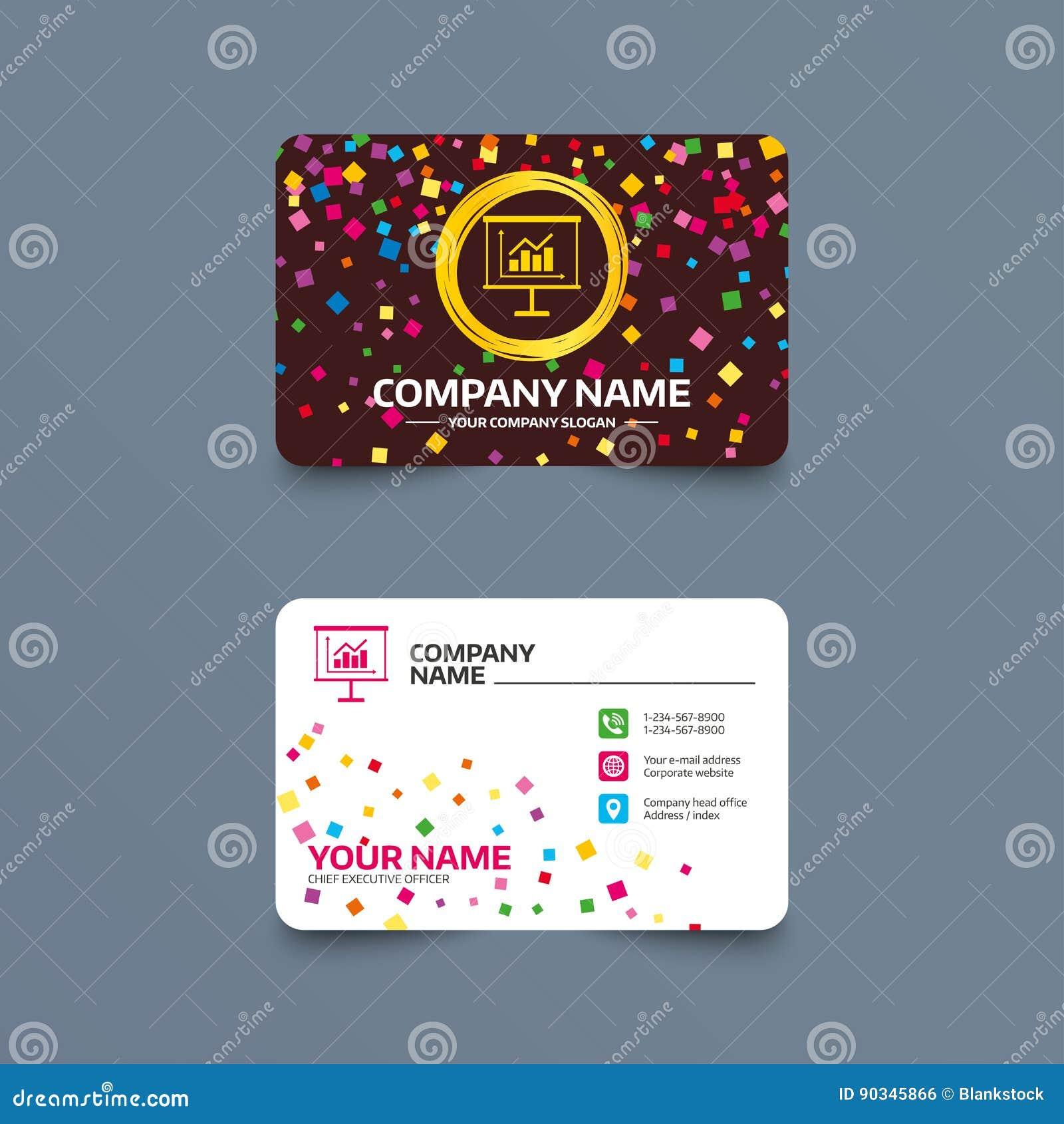 Calibre De Carte Visite Professionnelle Avec Des Morceaux Confettis Icne Signe Panneau Daffichage Prsentation Symbole Plan Et