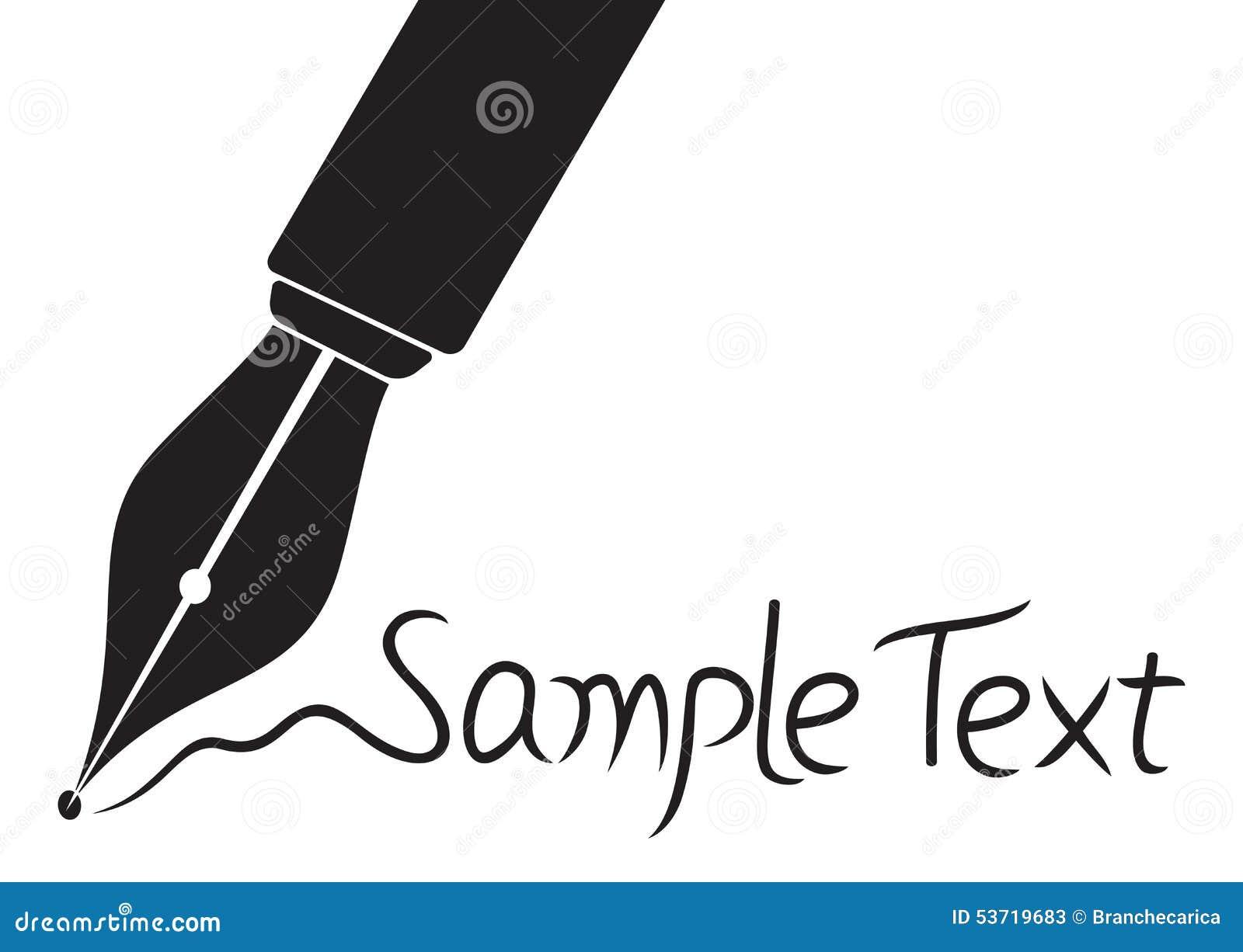 Ic�ne de stylo plume illustration vecteur image