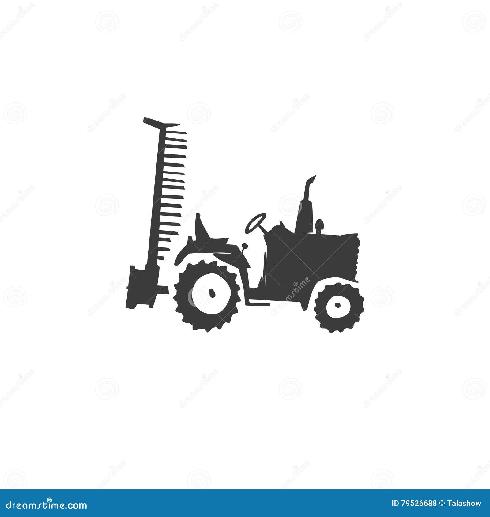 Icone De Tracteur D Amusement Illustration De Vecteur