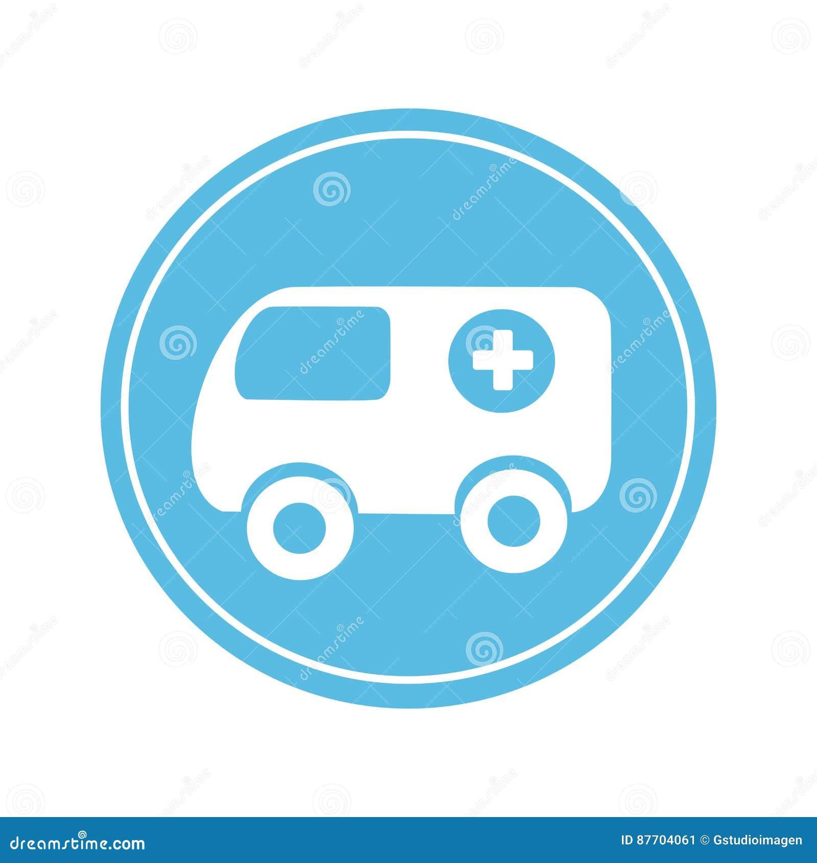 Icône de véhicule de secours d ambulance
