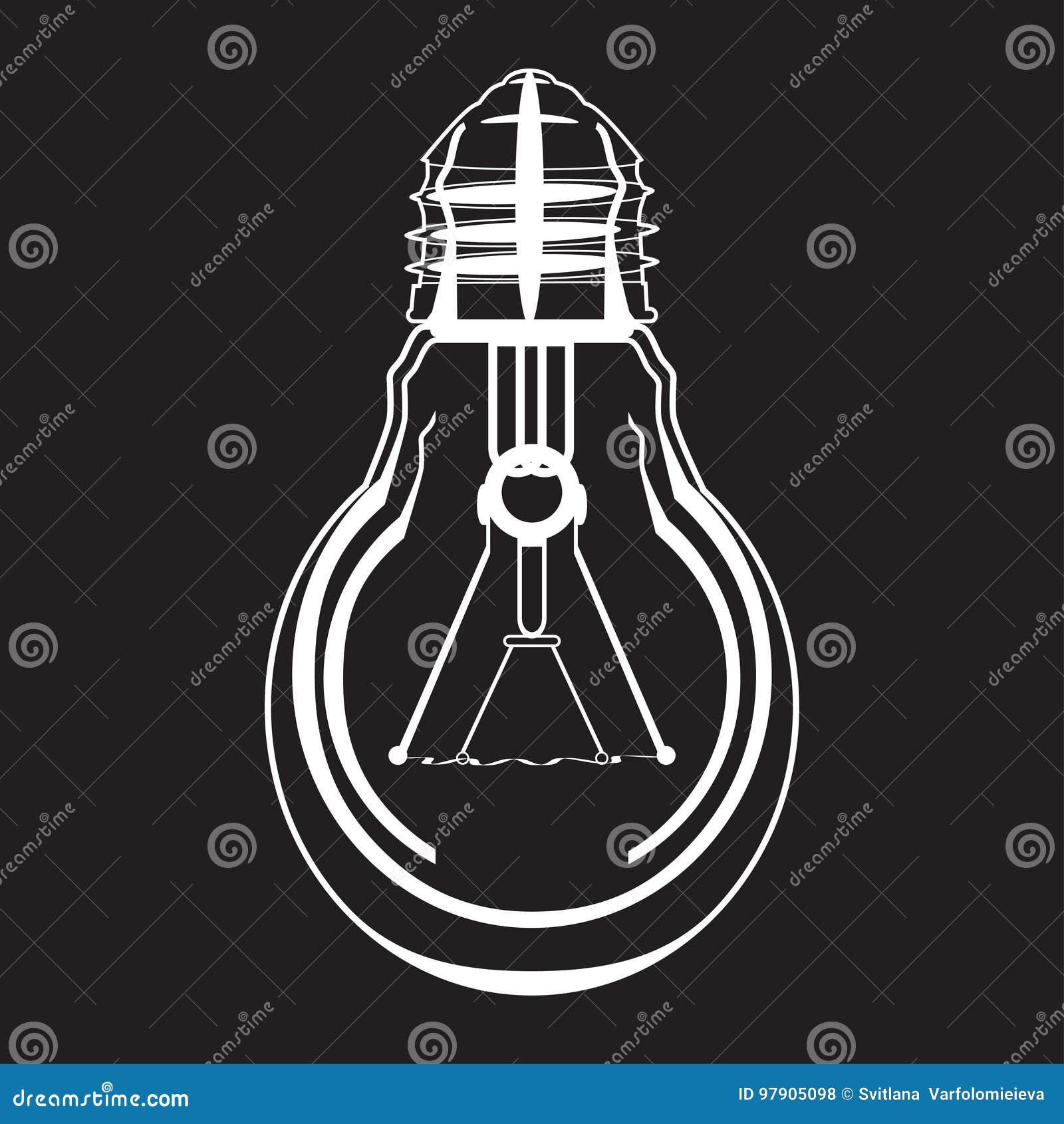 Icône de vecteur d ampoule dans le style plat