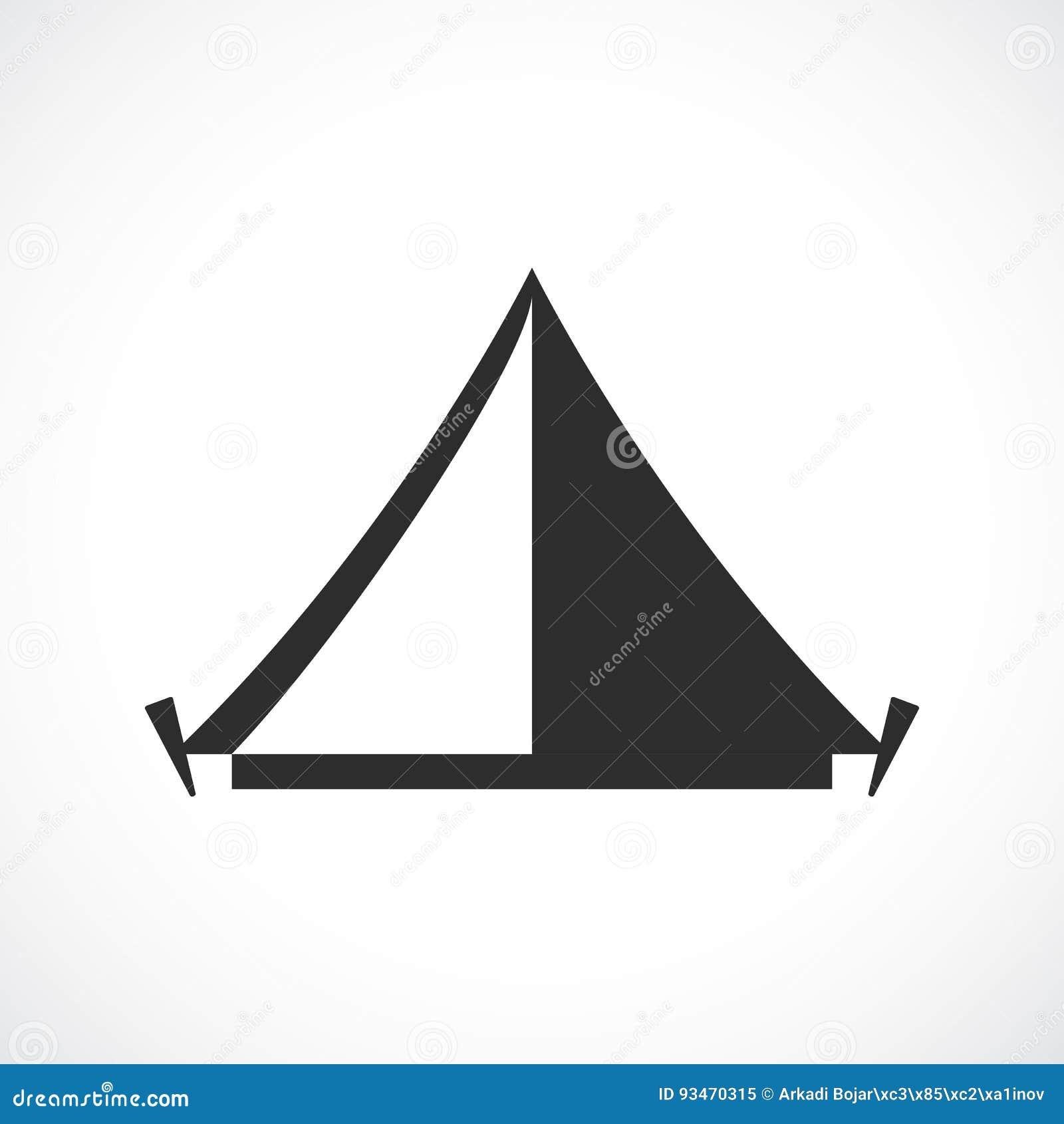 Icône de vecteur de camp de tente