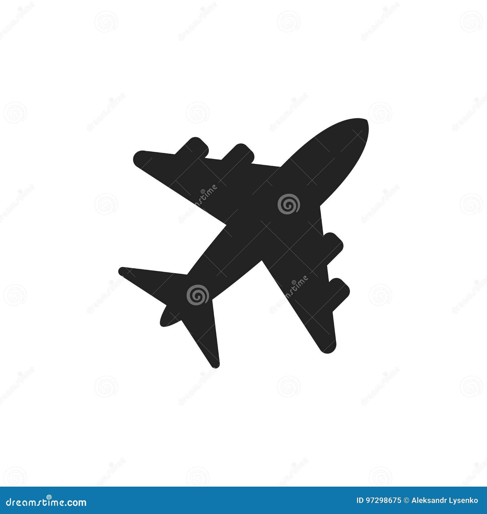 Icône de vecteur de signe d avion Illustration plate d aéroport Business