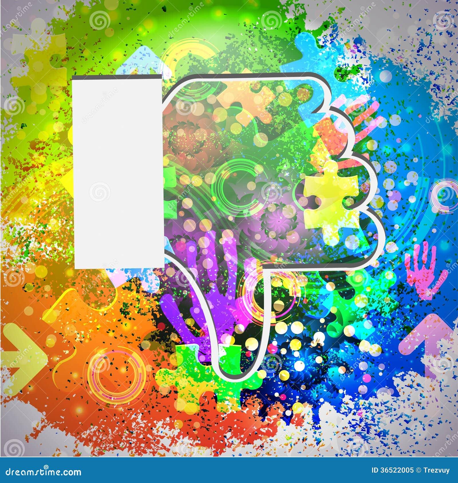 Icône de vecteur. Fond abstrait coloré. Eps10
