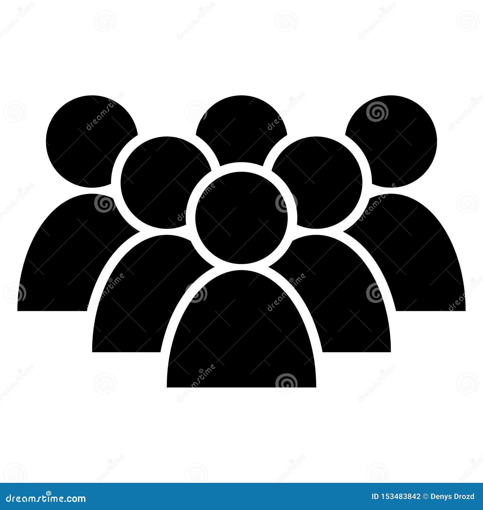 Ic?ne de vecteur de personnes Groupe de personnes l illustration de symbole logo de groupe d homme d affaires Icône de silhouette