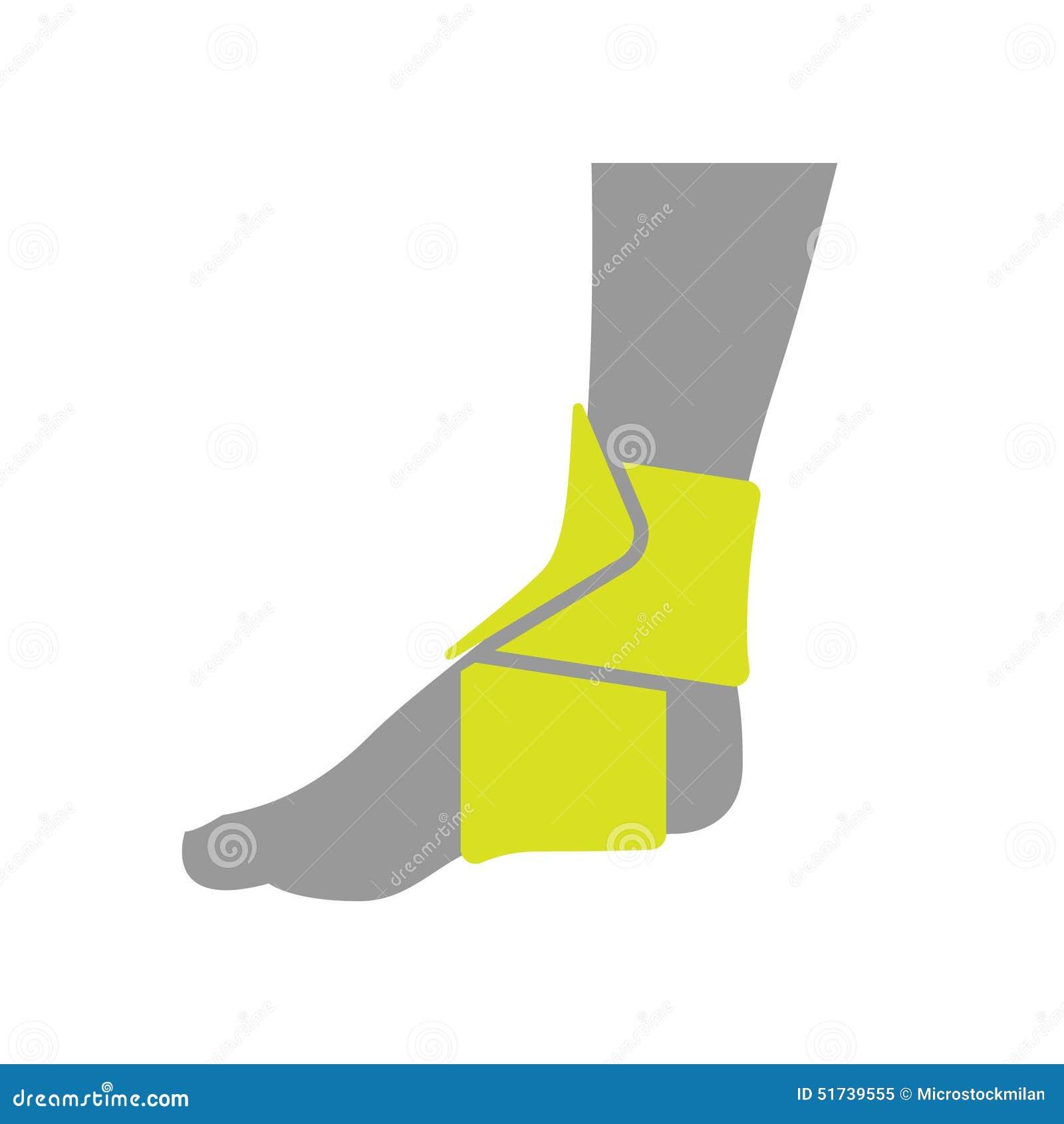 Icône du bandage de compression orthopédique élastique pour