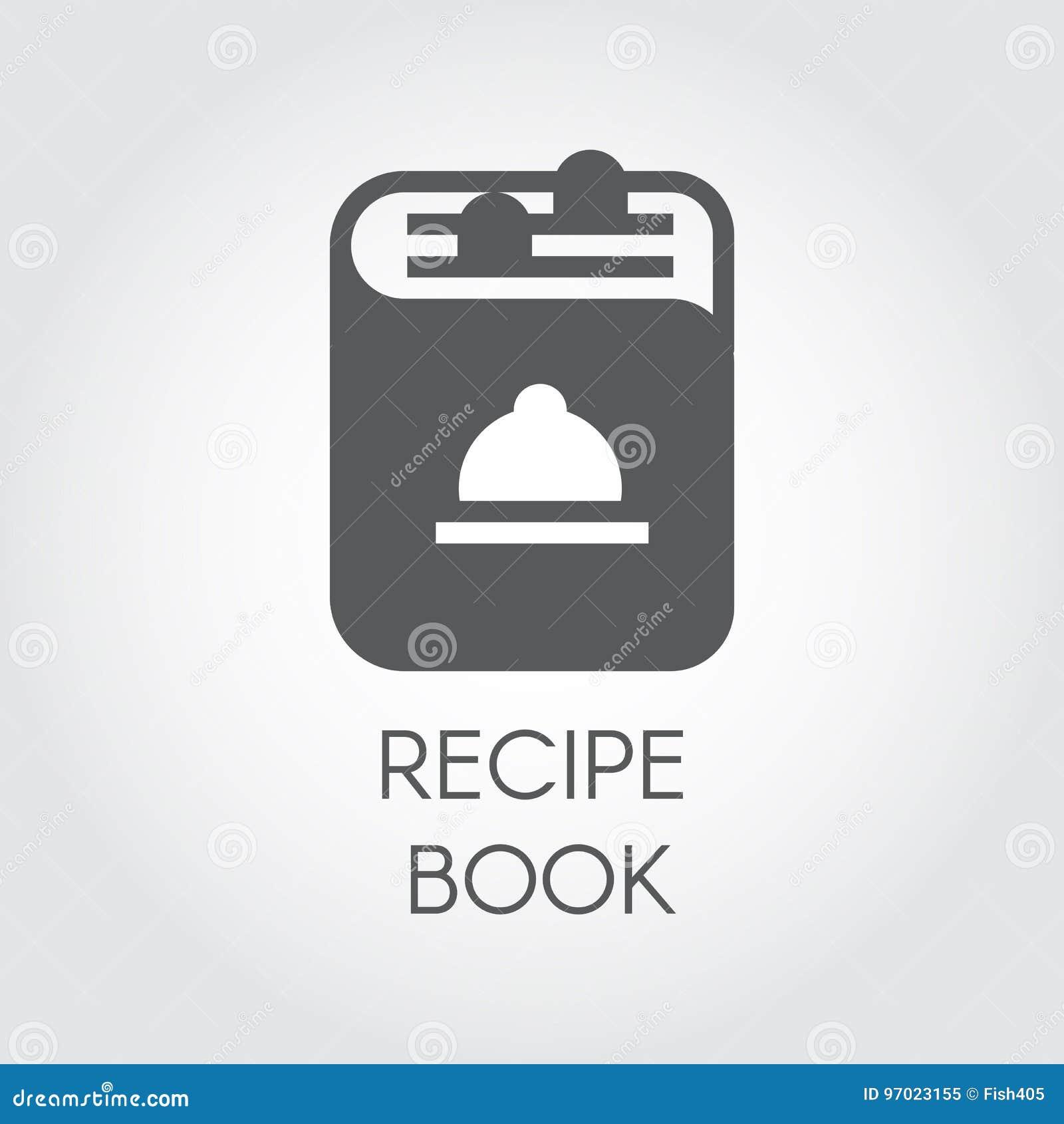Icone Du Dessin De Livre De Recette Dans Le Style Plat Logo