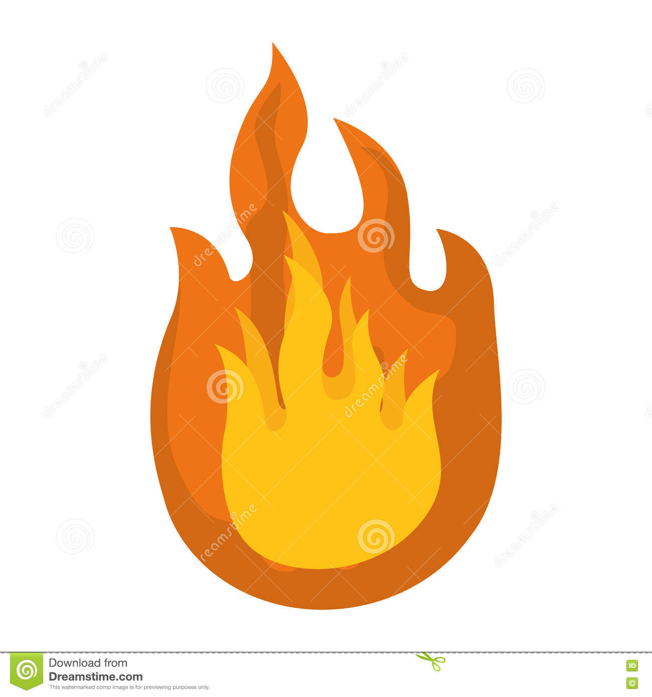Icone Du Feu Conception De Flamme Dessin De Vecteur Illustration
