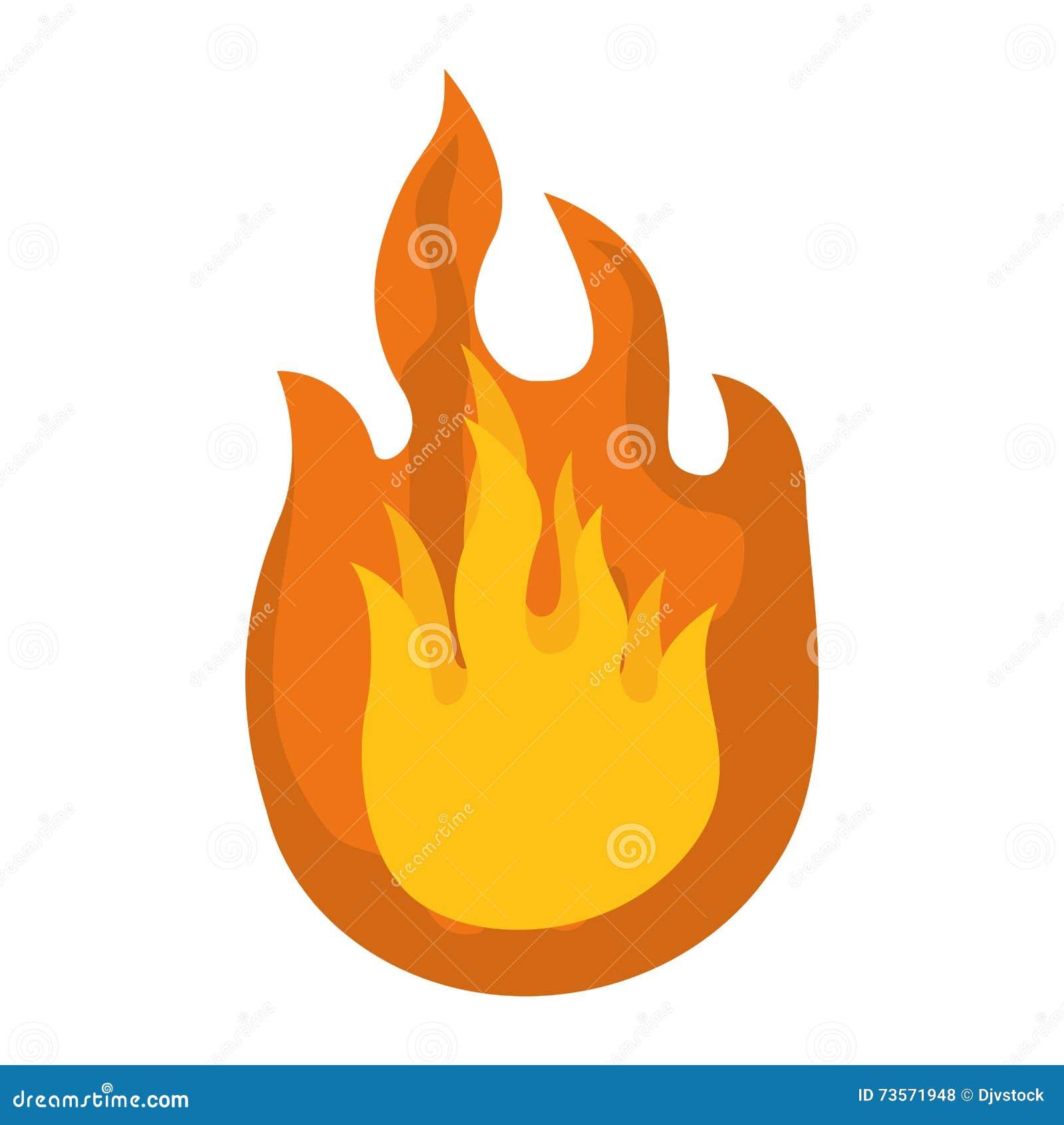 Icône Du Feu Conception De Flamme Dessin De Vecteur Illustration De