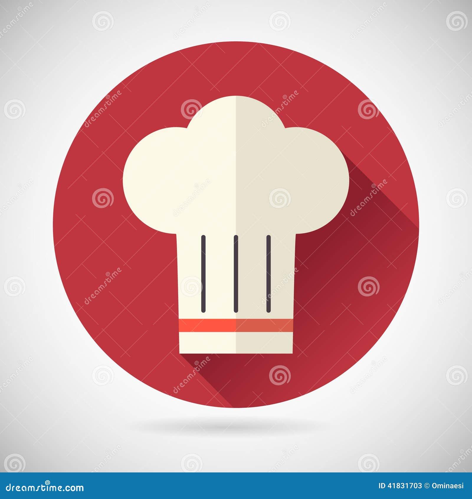 Ic ne en chef de nourriture de symbol toque cuisine de for Cuisinier xviii