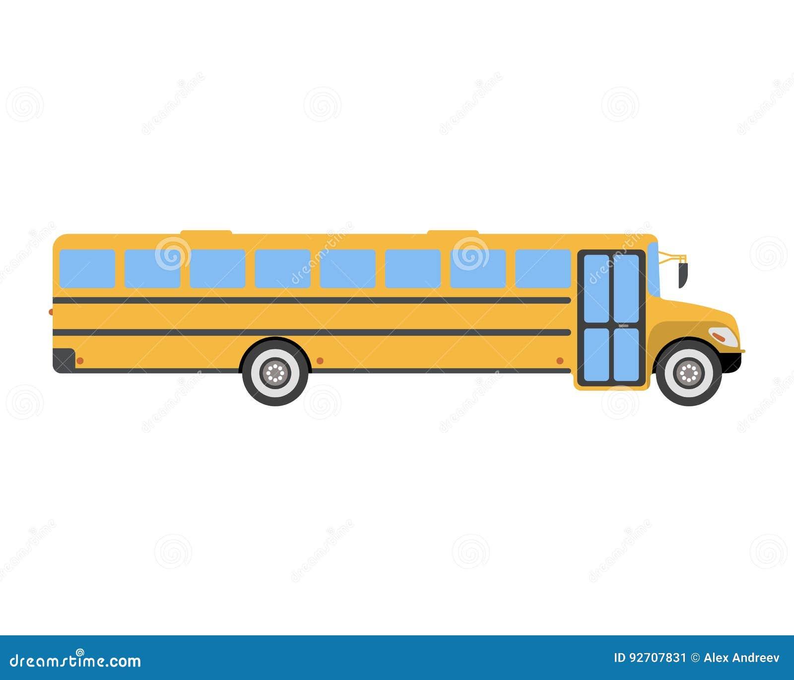 Icône Et Logo Plats D Autobus Scolaire Illustration De
