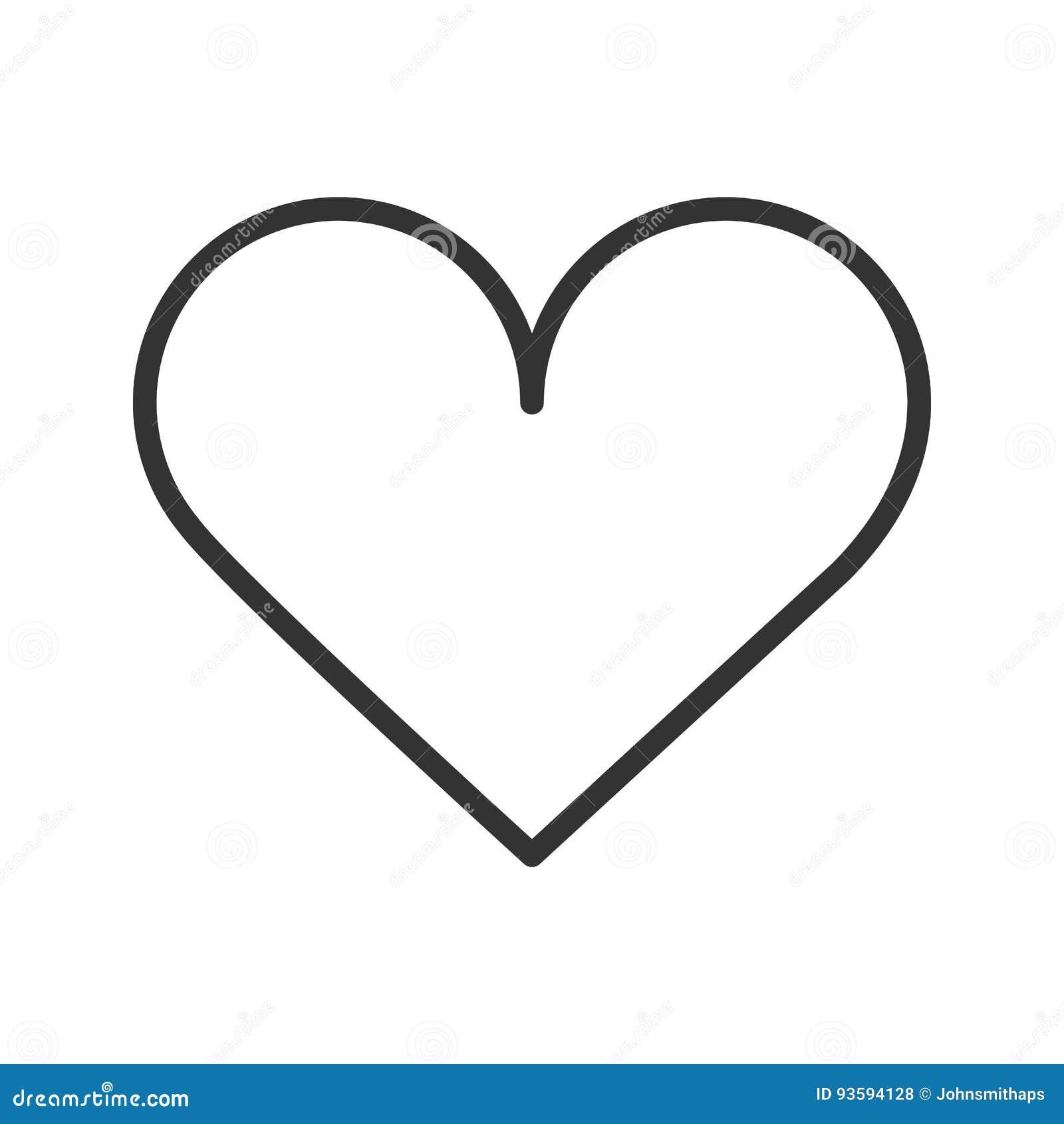Coeur Dessin icône linéaire de coeur illustration au trait mince dessin d