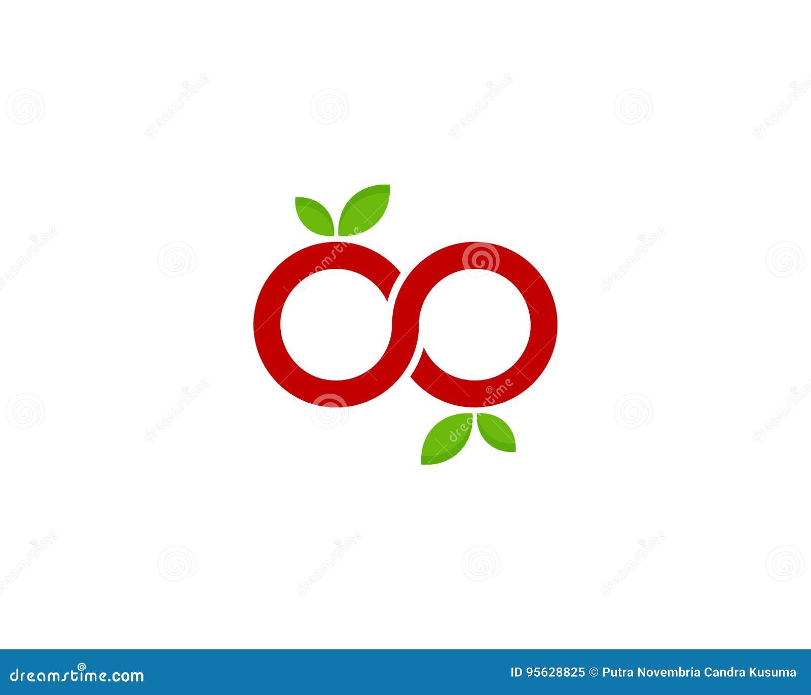 Icône Logo Design Element de fruit d infini