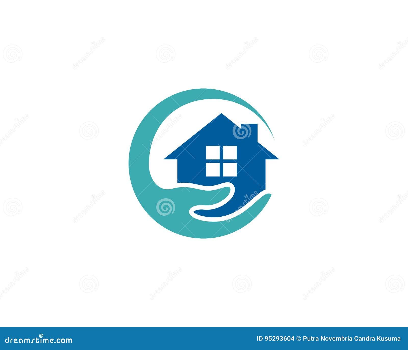 Ic ne logo design element de soins domicile de chambre illustration de vecteur illustration - Homes logo designs ...