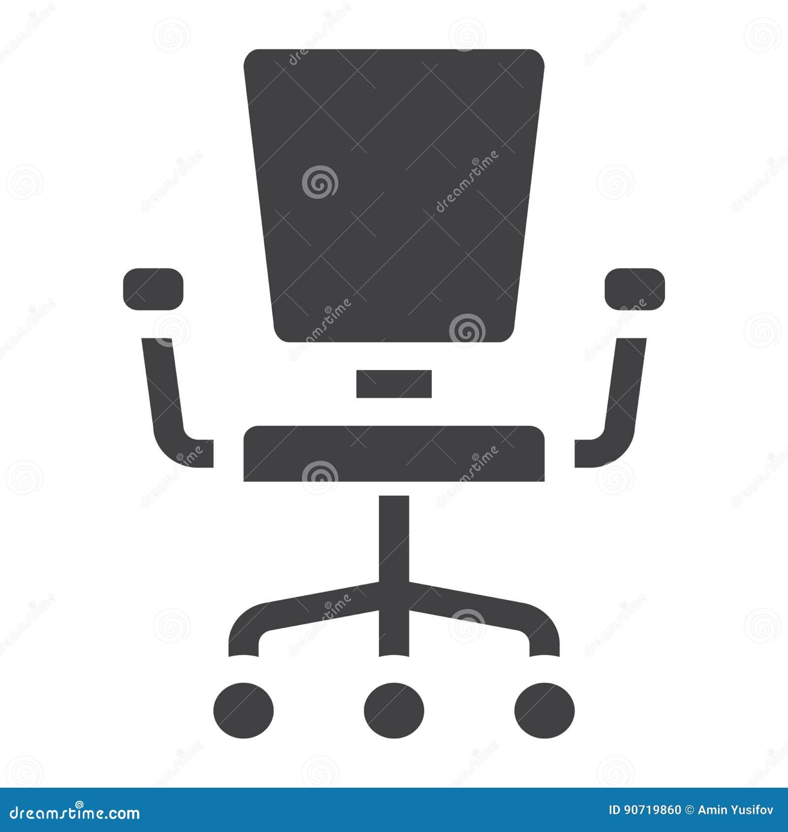 Icone Solide De Chaise Bureau Meubles Et Element Interieur Graphiques Vecteur Un Modele Rempli Sur Fond Blanc ENV 10