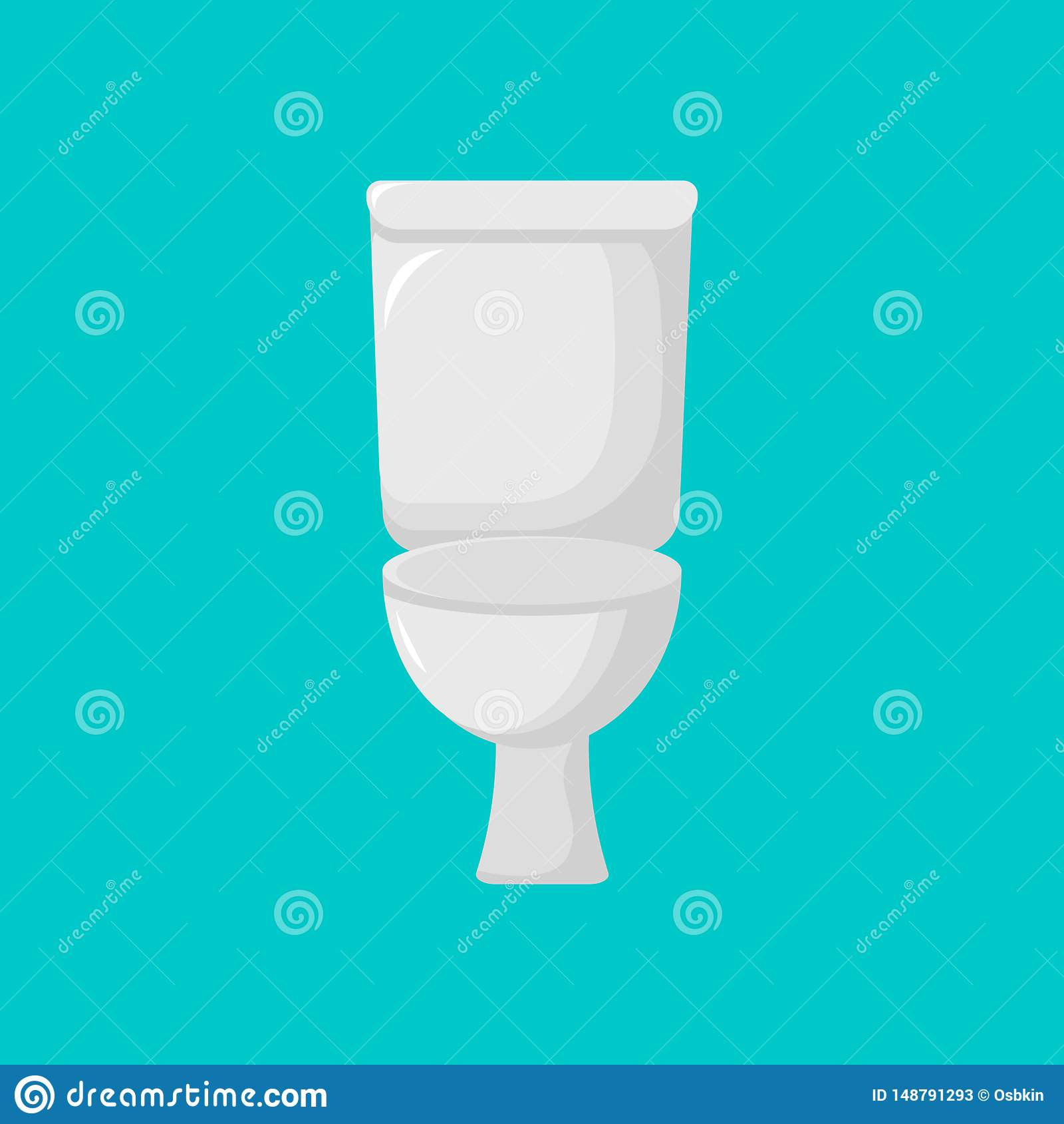 Ic?ne moderne de toilette Toilette de bande dessin?e