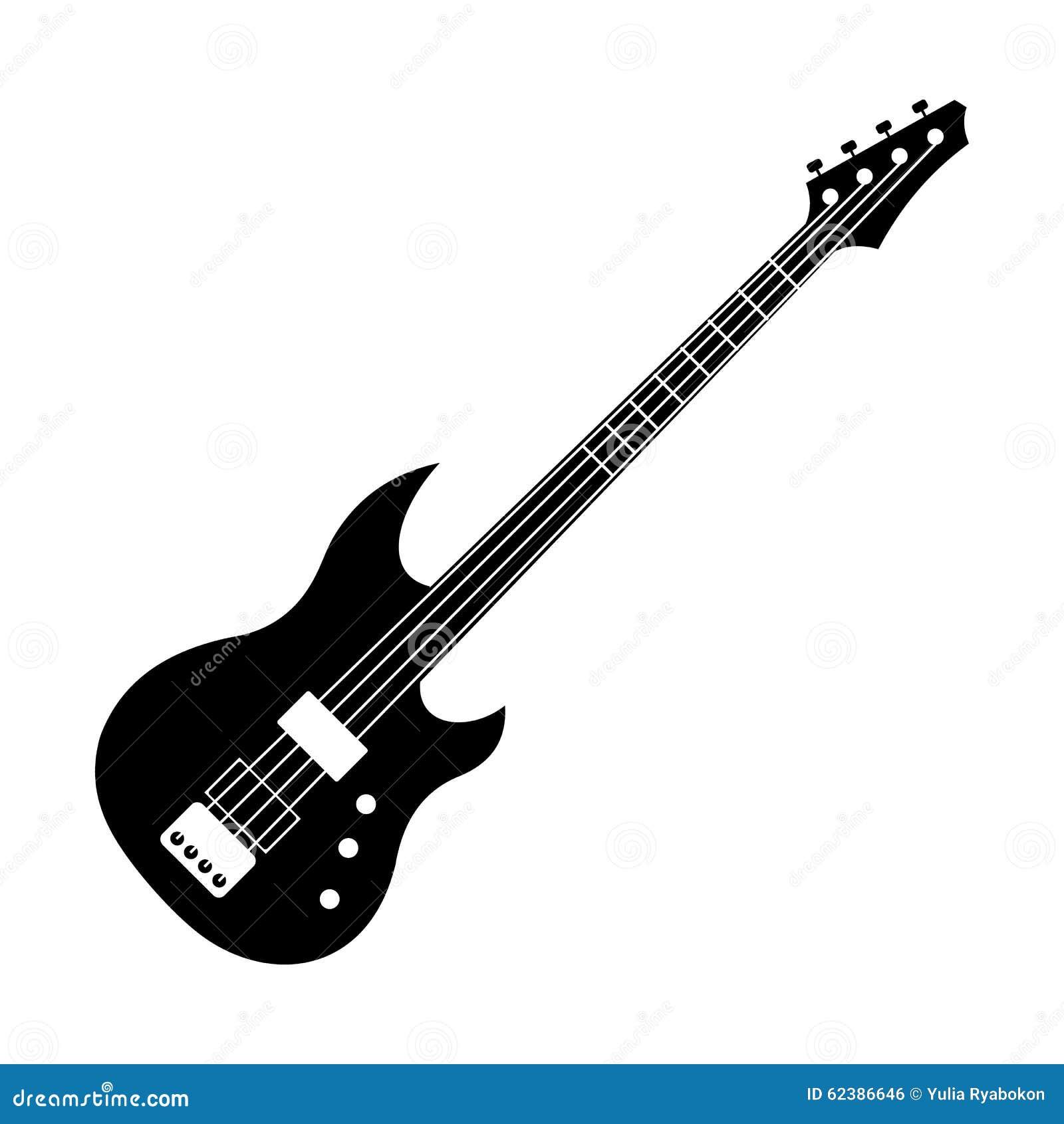 ic u00f4ne noire de guitare  u00e9lectrique illustration de vecteur guitar vectoriel guitar vector free
