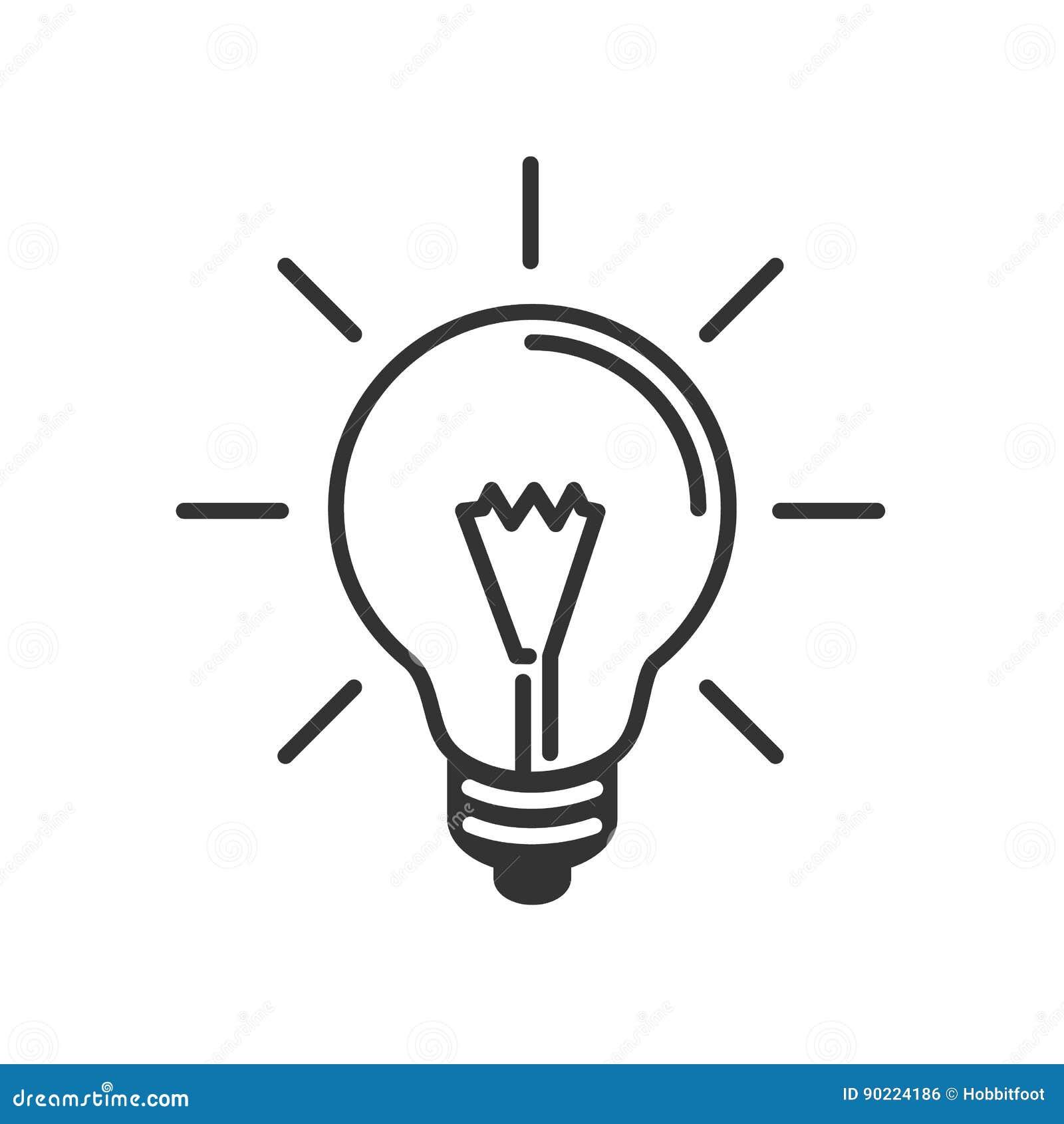 Ic ne plate d 39 id e de lampe ligne noire fond blanc for Lampe noir et blanc
