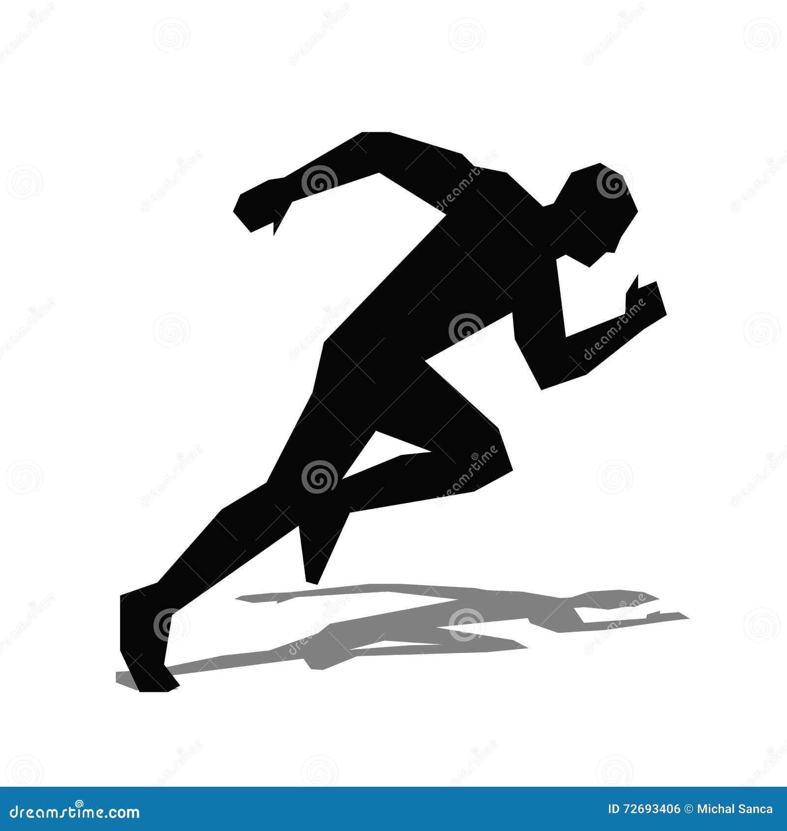 Ic ne plate de coureur silhouette courante de vecteur d 39 homme illustration de vecteur - Coureur dessin ...