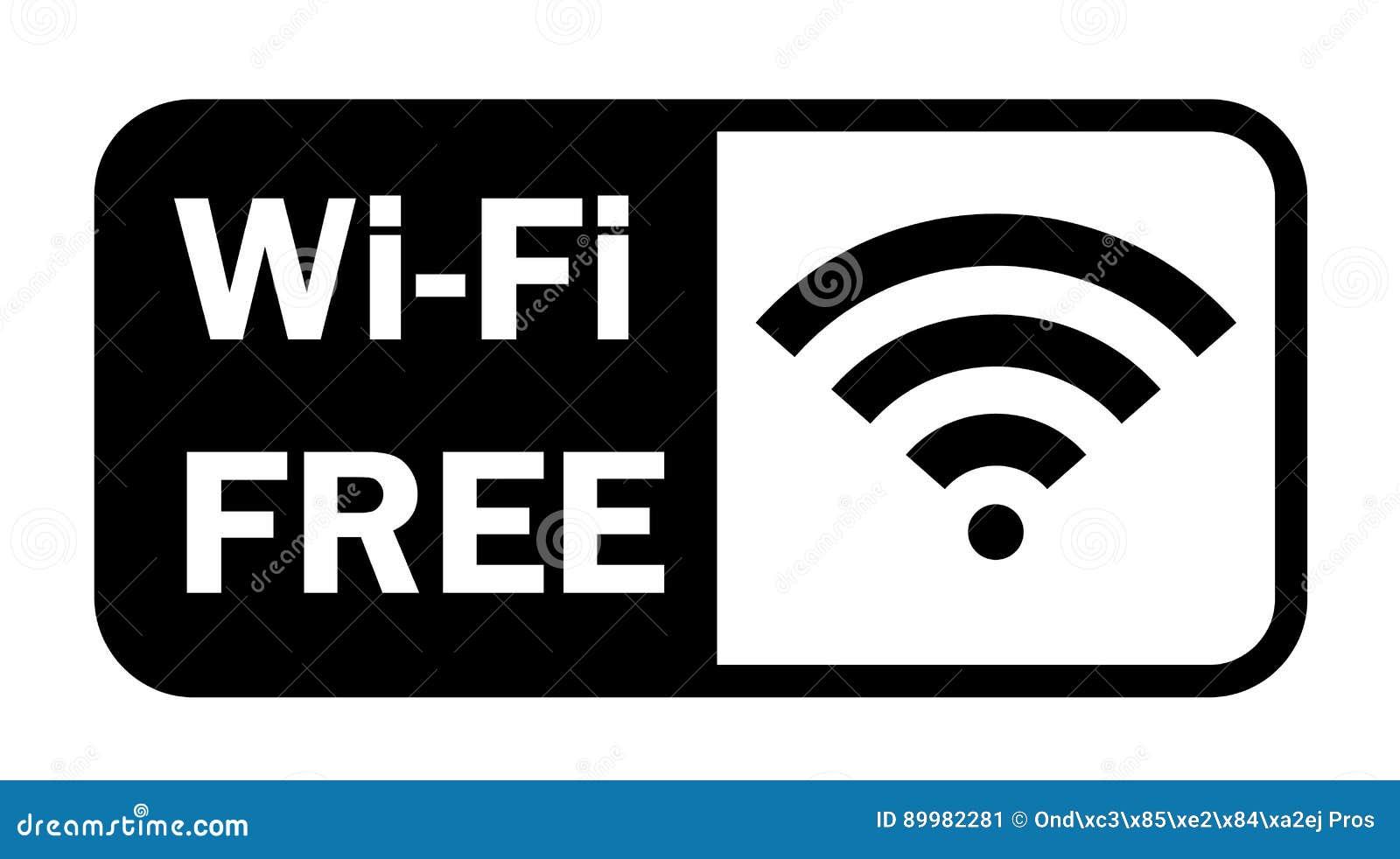 Icône plate de signal sans fil d Internet de Wifi