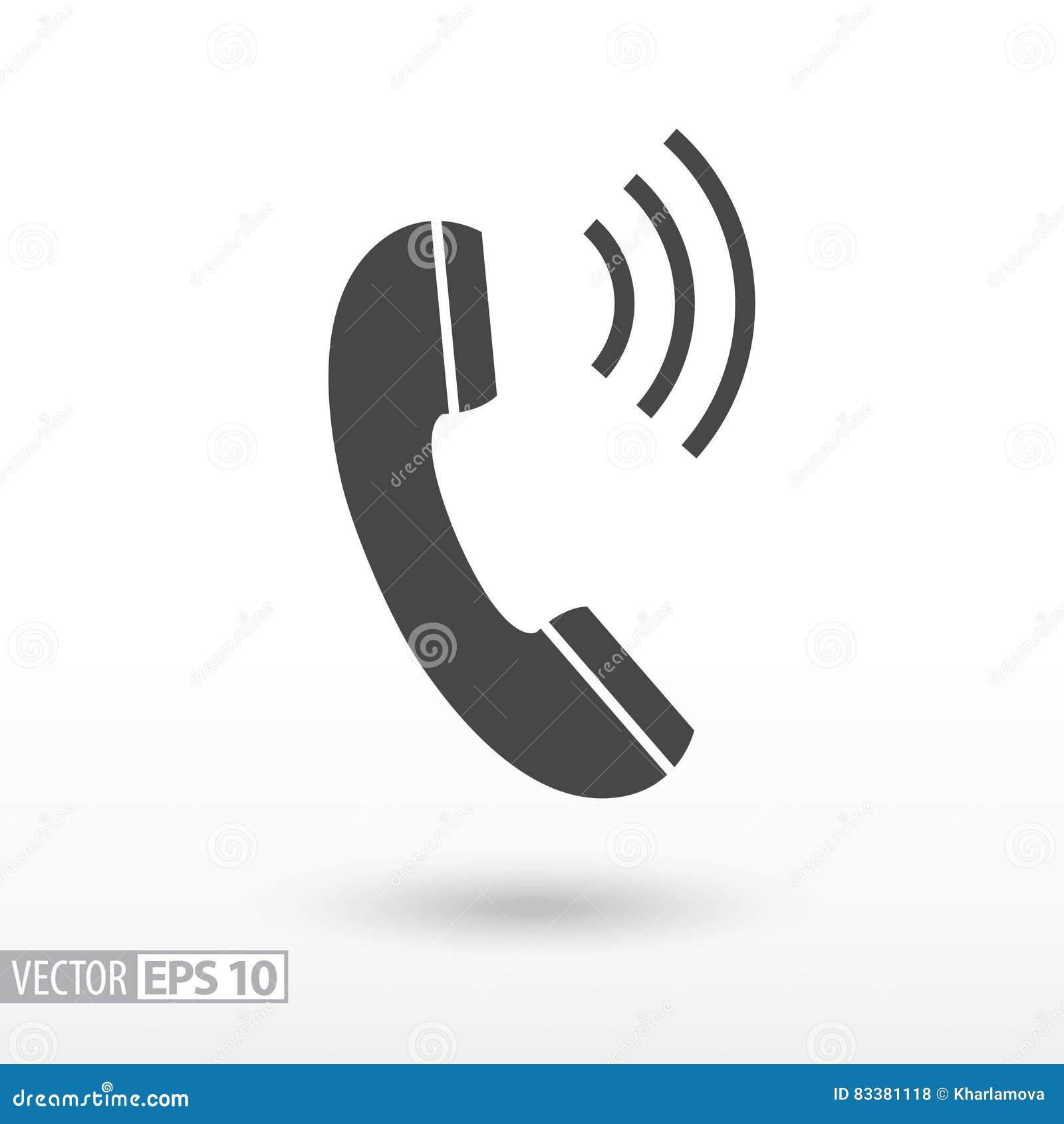 Icône plate de téléphone Téléphone de signe Dirigez le logo pour le web design, le mobile et l infographics