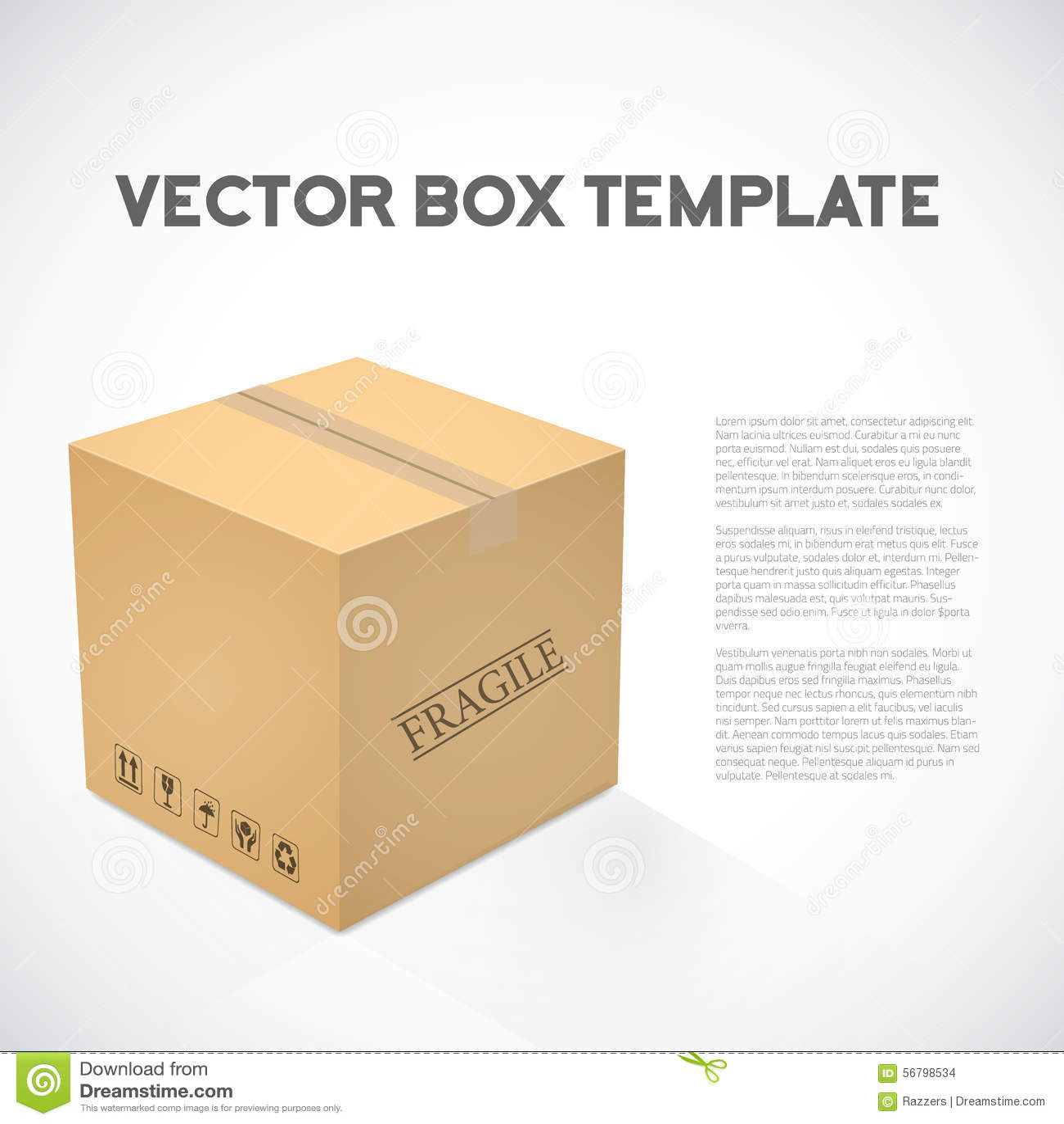 Icône réaliste de boîte de dispositif de transports maritimes de cube en vecteur 3D
