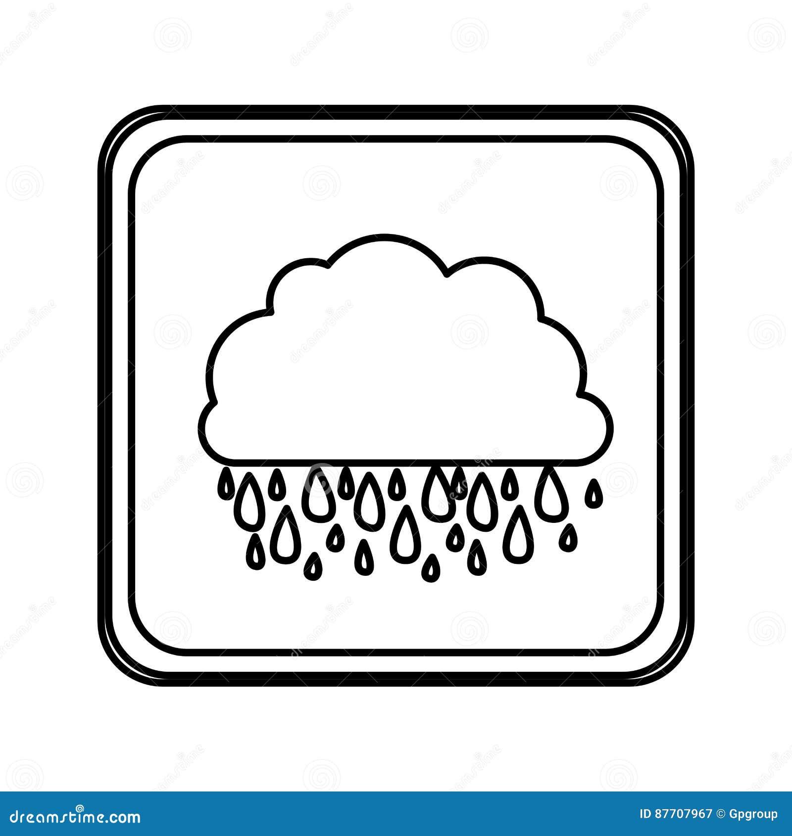 Icône rainning de nuage d emblème