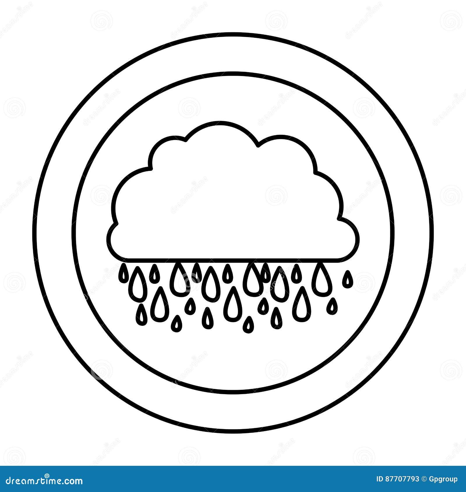 Icône rainning de nuage de silhouette