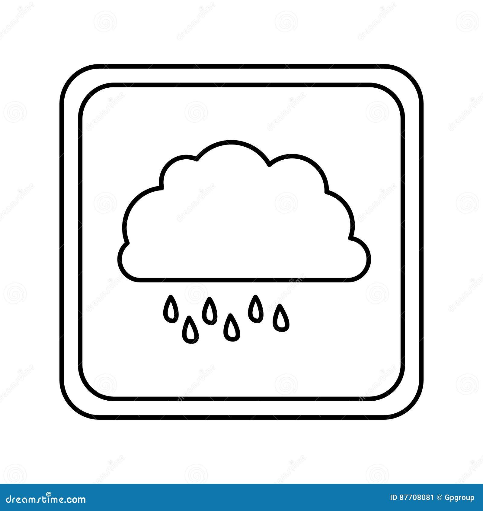 Icône rainning de nuage de symbole