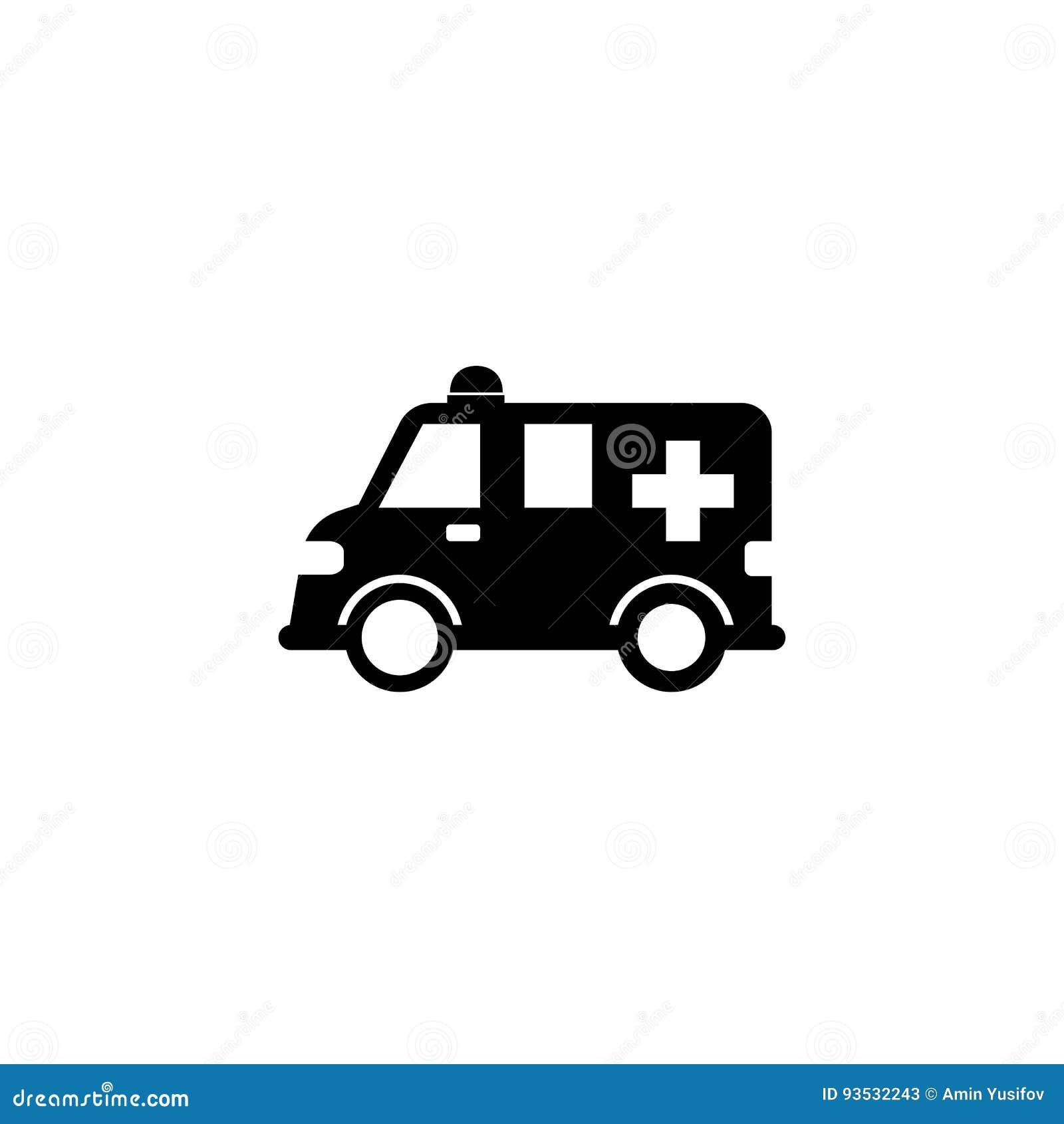 ic ne solide de voiture d 39 ambulance signe de healtcare illustration de vecteur illustration. Black Bedroom Furniture Sets. Home Design Ideas