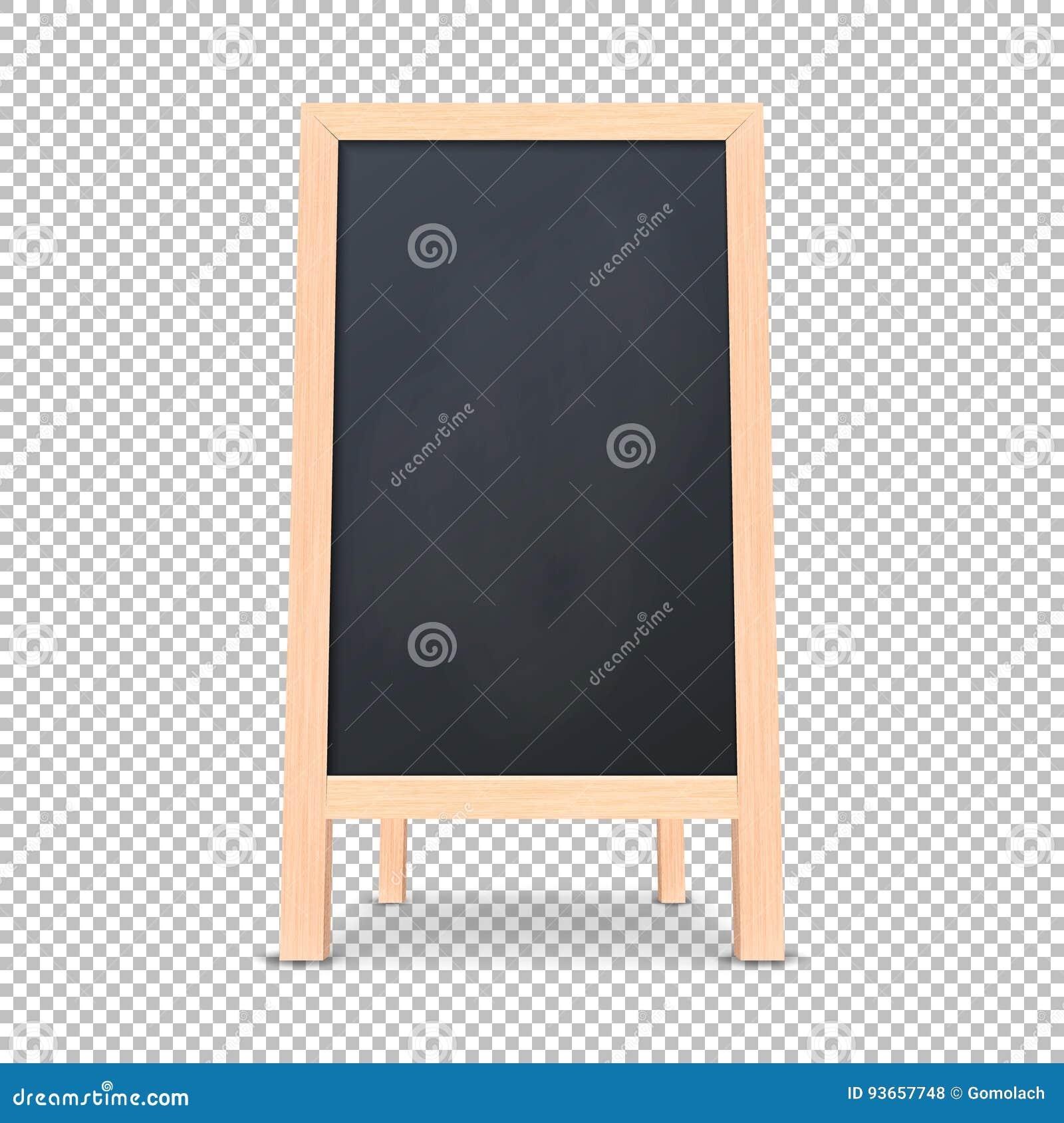 Icône spéciale réaliste de conseil d annonce de menu Fond extérieur de tableau noir de restaurant propre de vecteur Maquette de