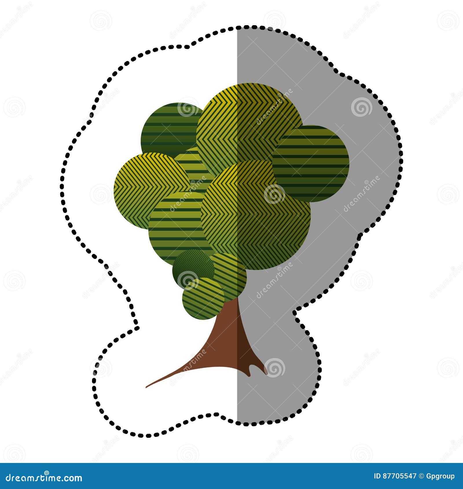 Icône stylisée d arbre d autocollant