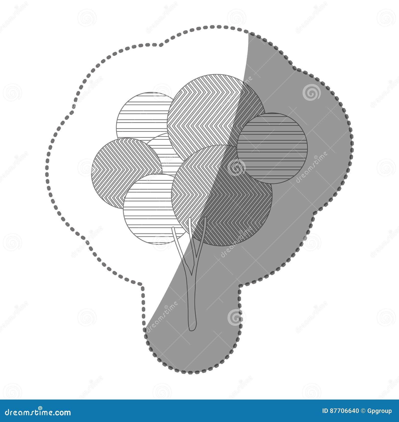 Icône stylisée d arbre de timbre de découpe