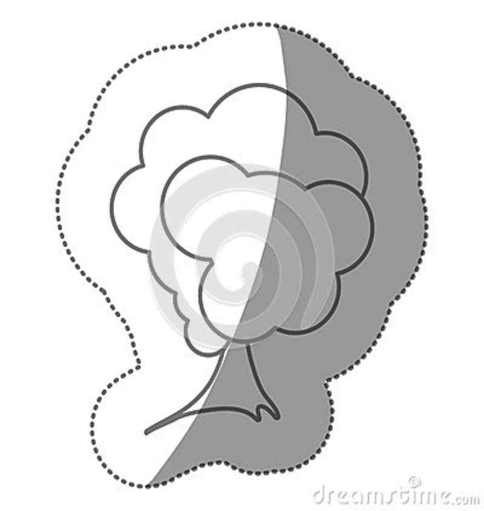 Icône stylisée d arbre de timbre de silhouette