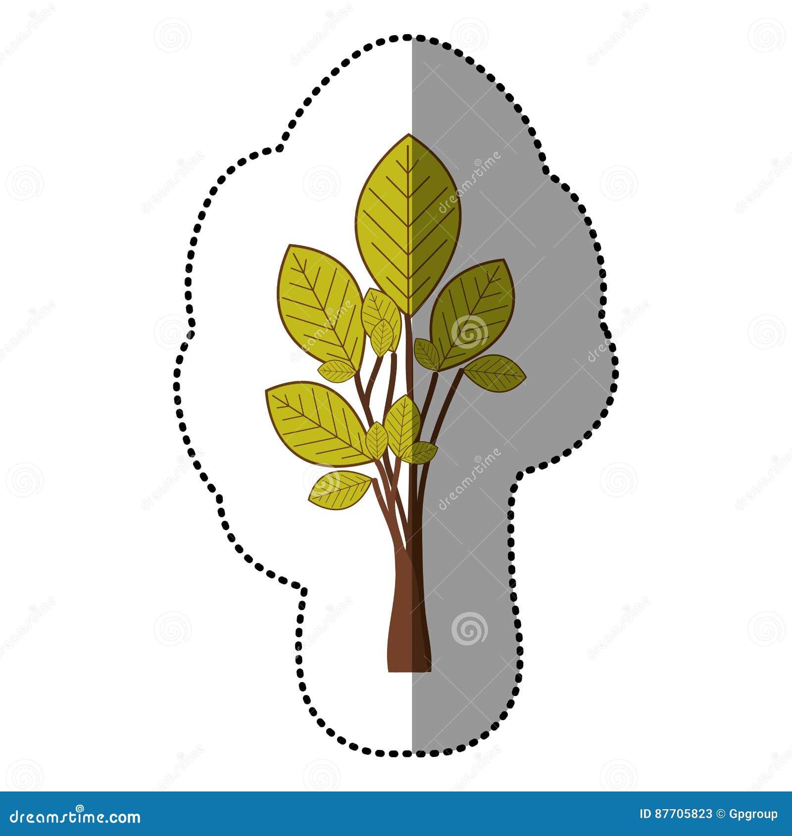Icône stylisée d arbre de vert de chaux
