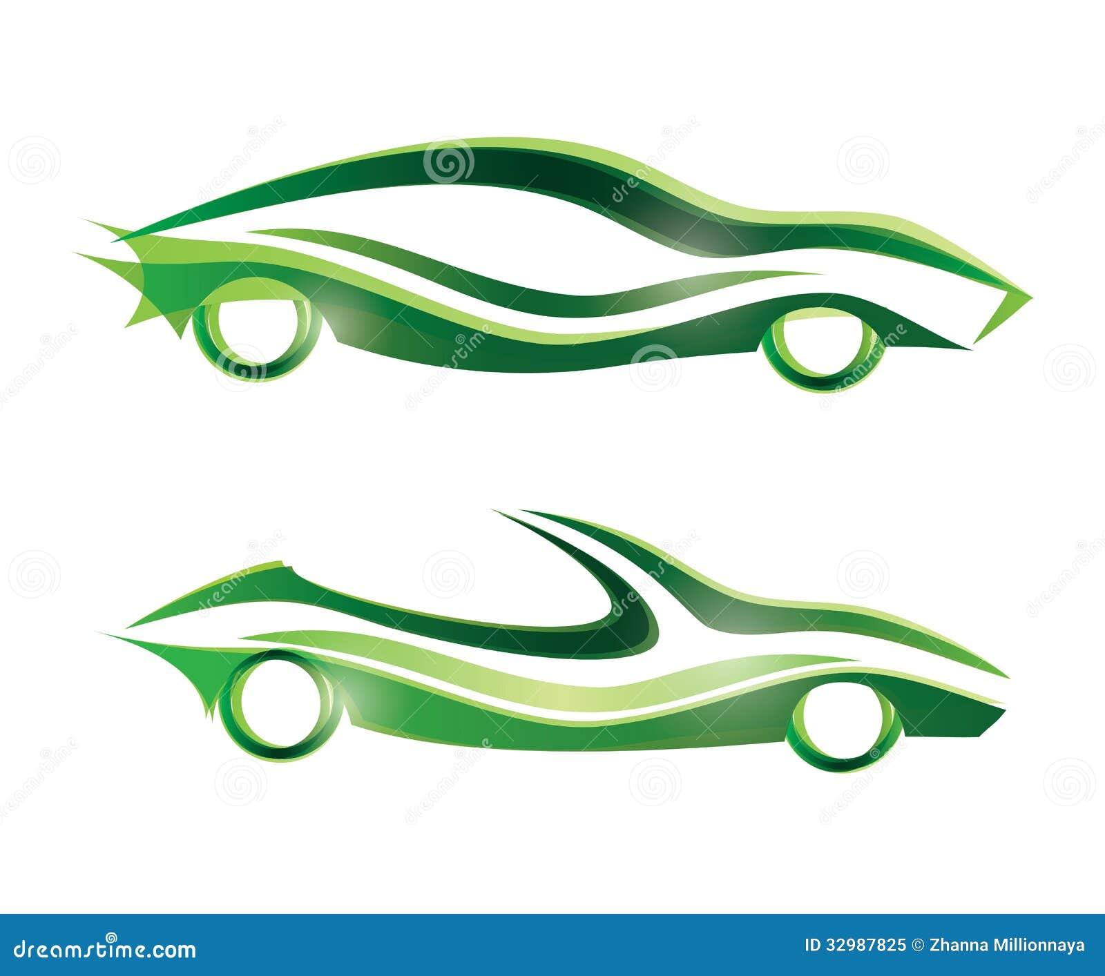 ic ne stylis e de voiture de sport photo libre de droits image 32987825. Black Bedroom Furniture Sets. Home Design Ideas