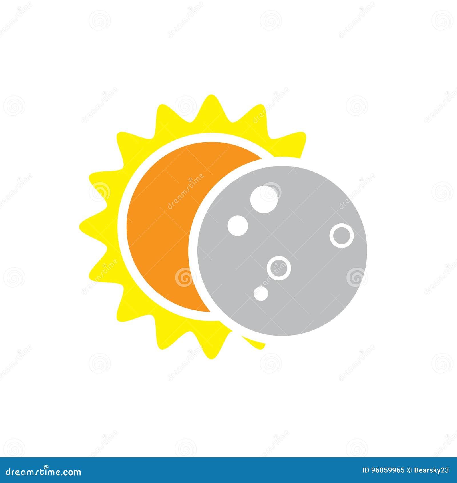 Icône totale d éclipse solaire le 8 août 2017