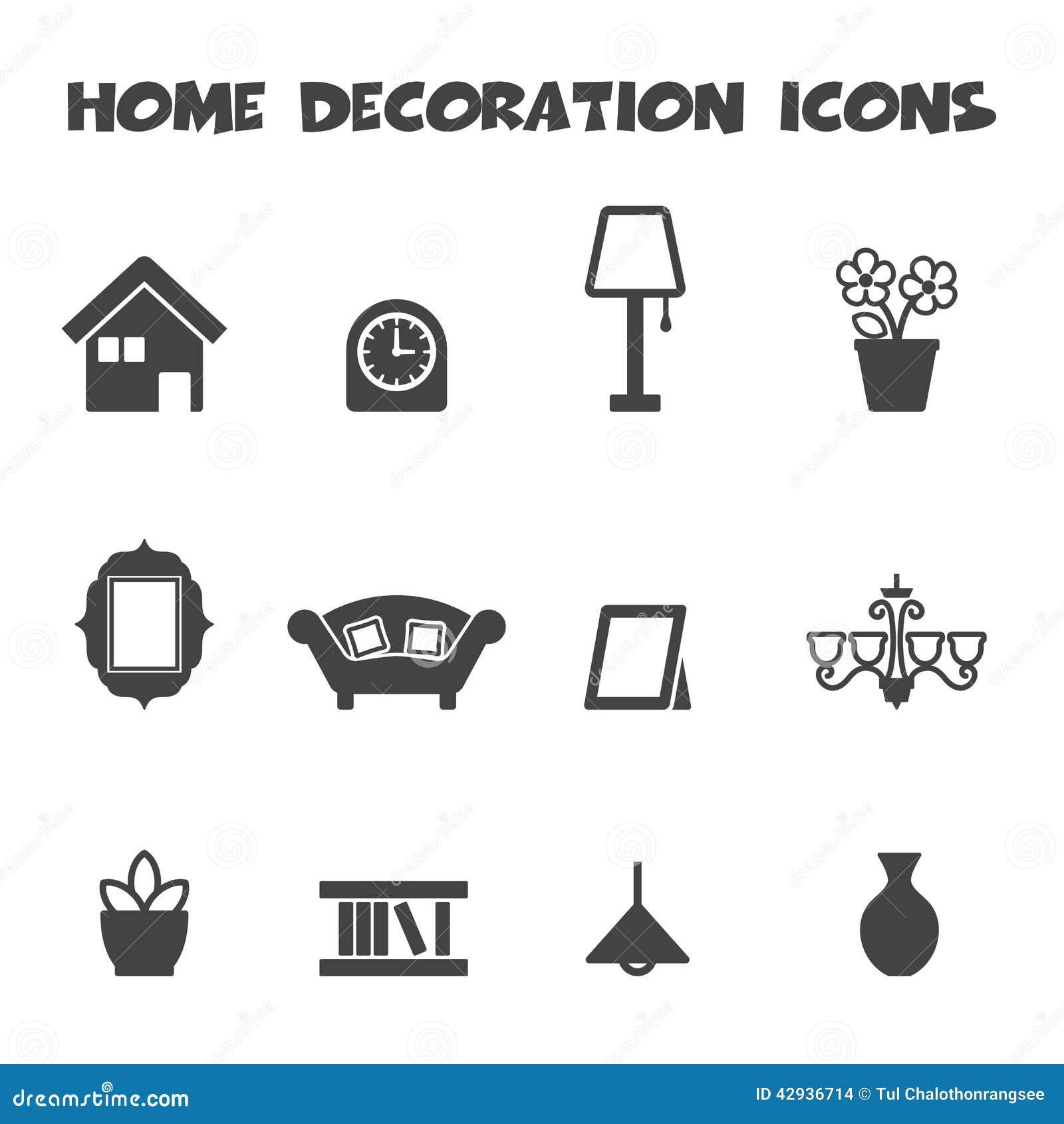 Ic nes la maison de d coration illustration de vecteur for La maison home accessories