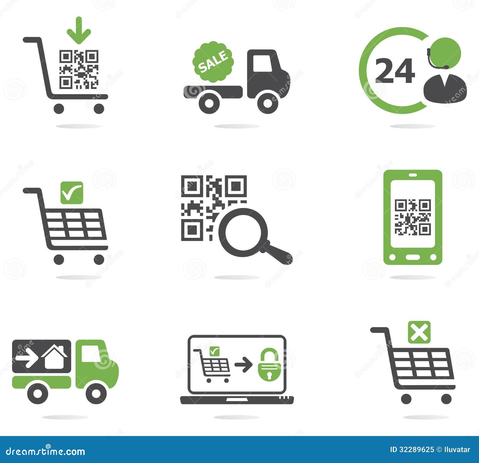 Icônes d achats réglées