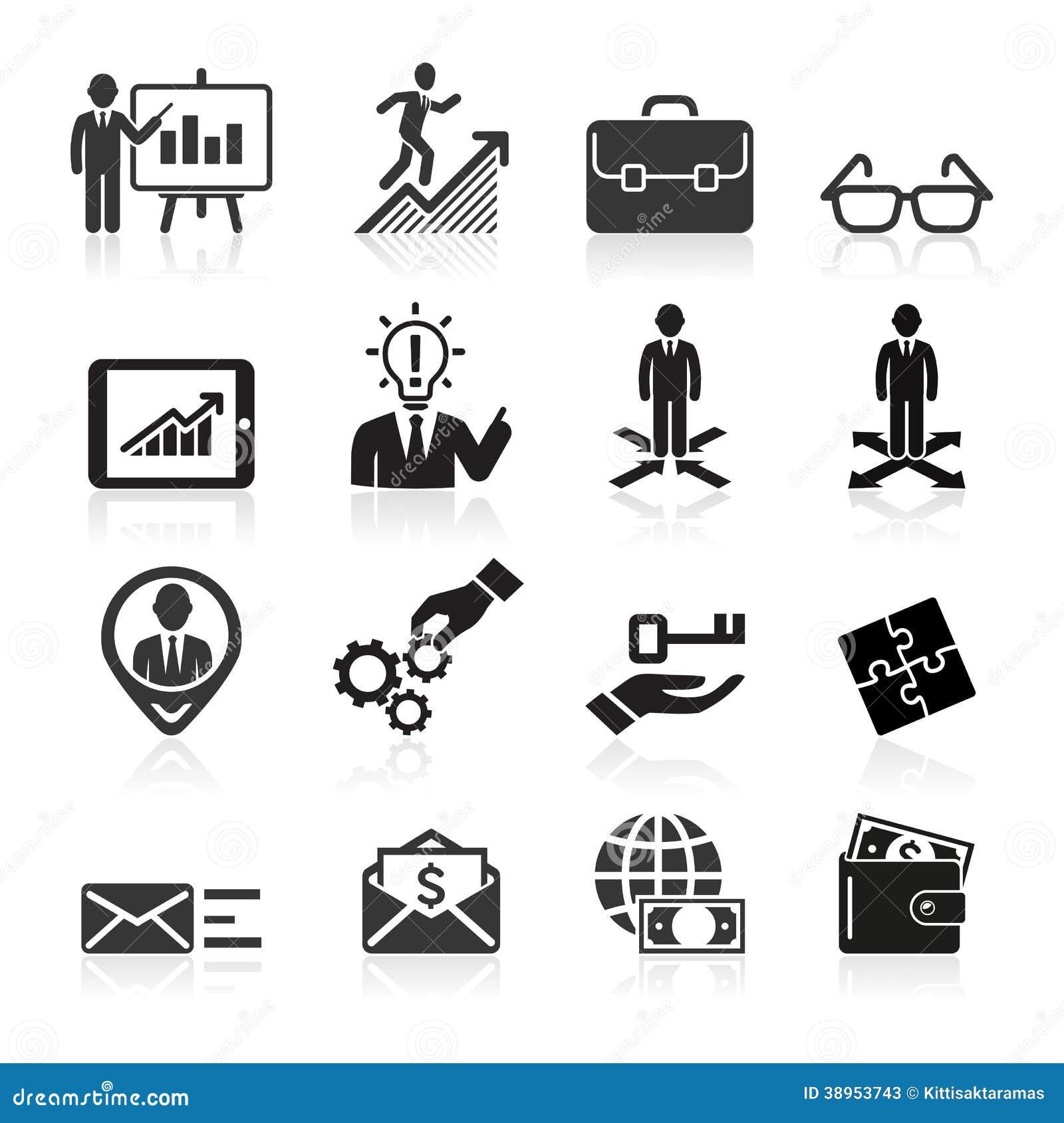Icônes d affaires, gestion et ressources humaines.