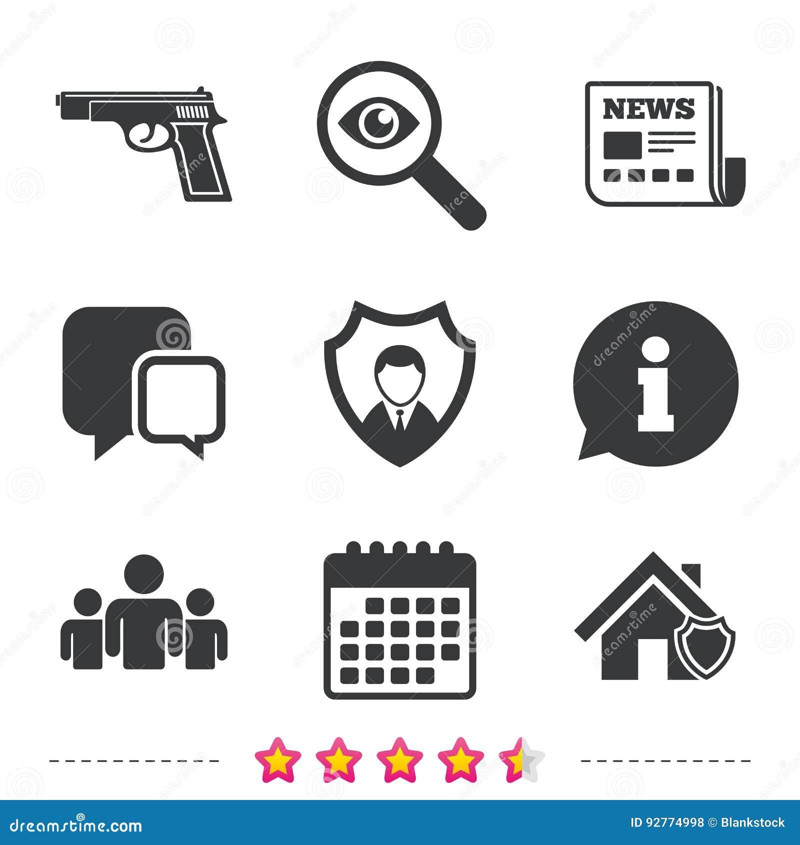 Icônes d agence de sécurité Protection à la maison de bouclier