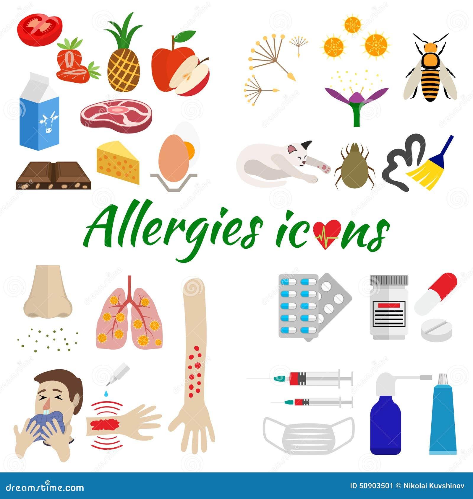 Icônes Dallergie Réglées Illustration Stock  Image 50903501